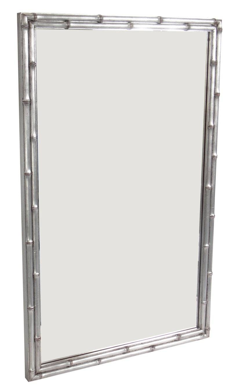 Silver Leaf Faux Bamboo Mirror At 1Stdibs throughout Silver Gilt Mirrors (Image 24 of 25)