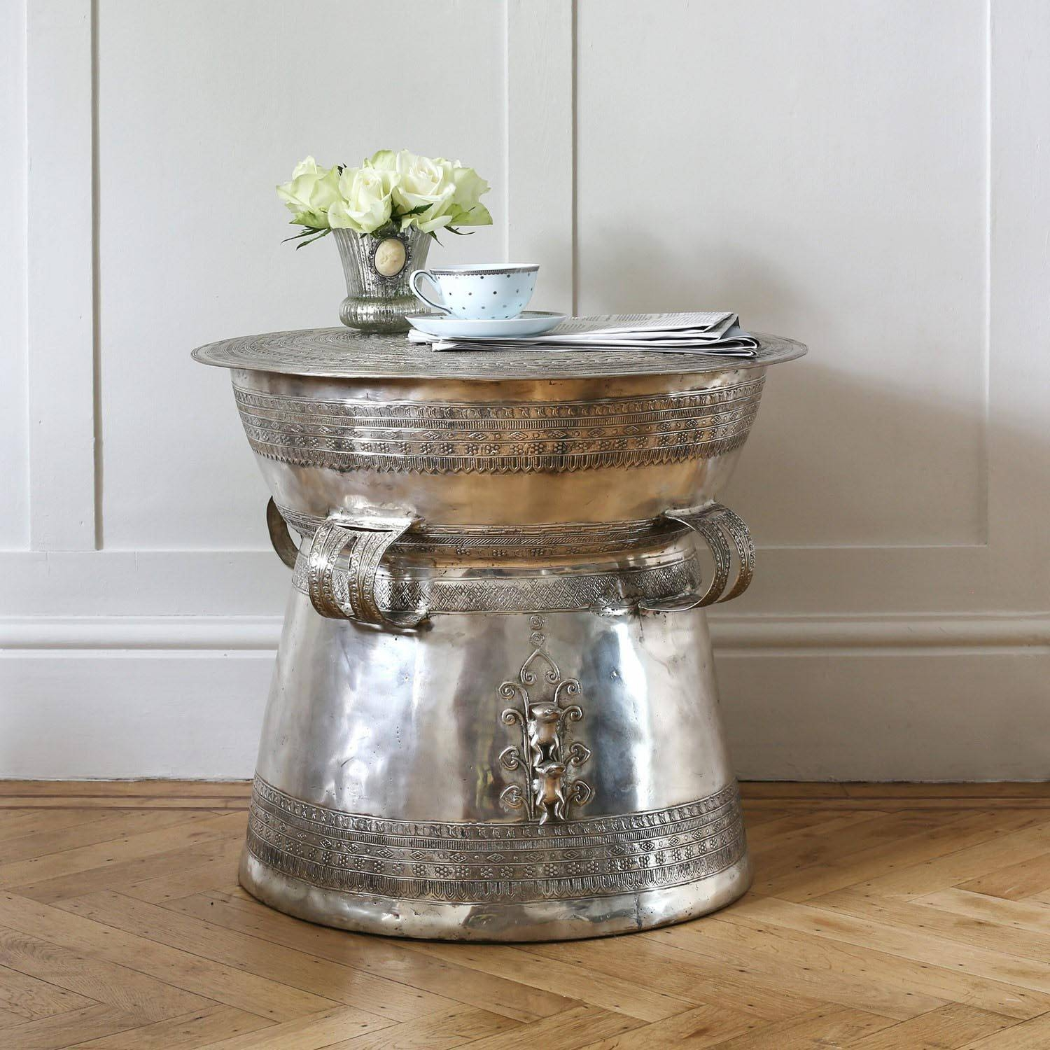 Silver Metal Coffee Table | Coffee Table Design Ideas inside Hammered Silver Coffee Tables (Image 27 of 30)
