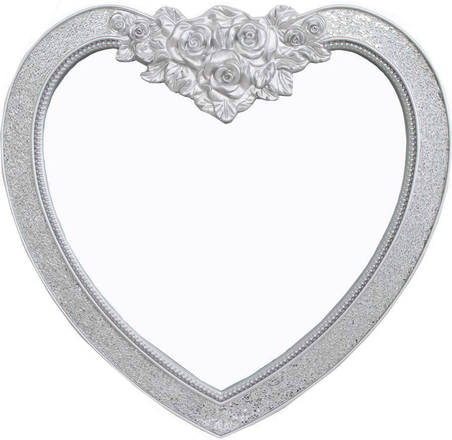 Silver Mirrored Mosaic Heart Wall Mirror inside Heart Wall Mirrors (Image 22 of 25)