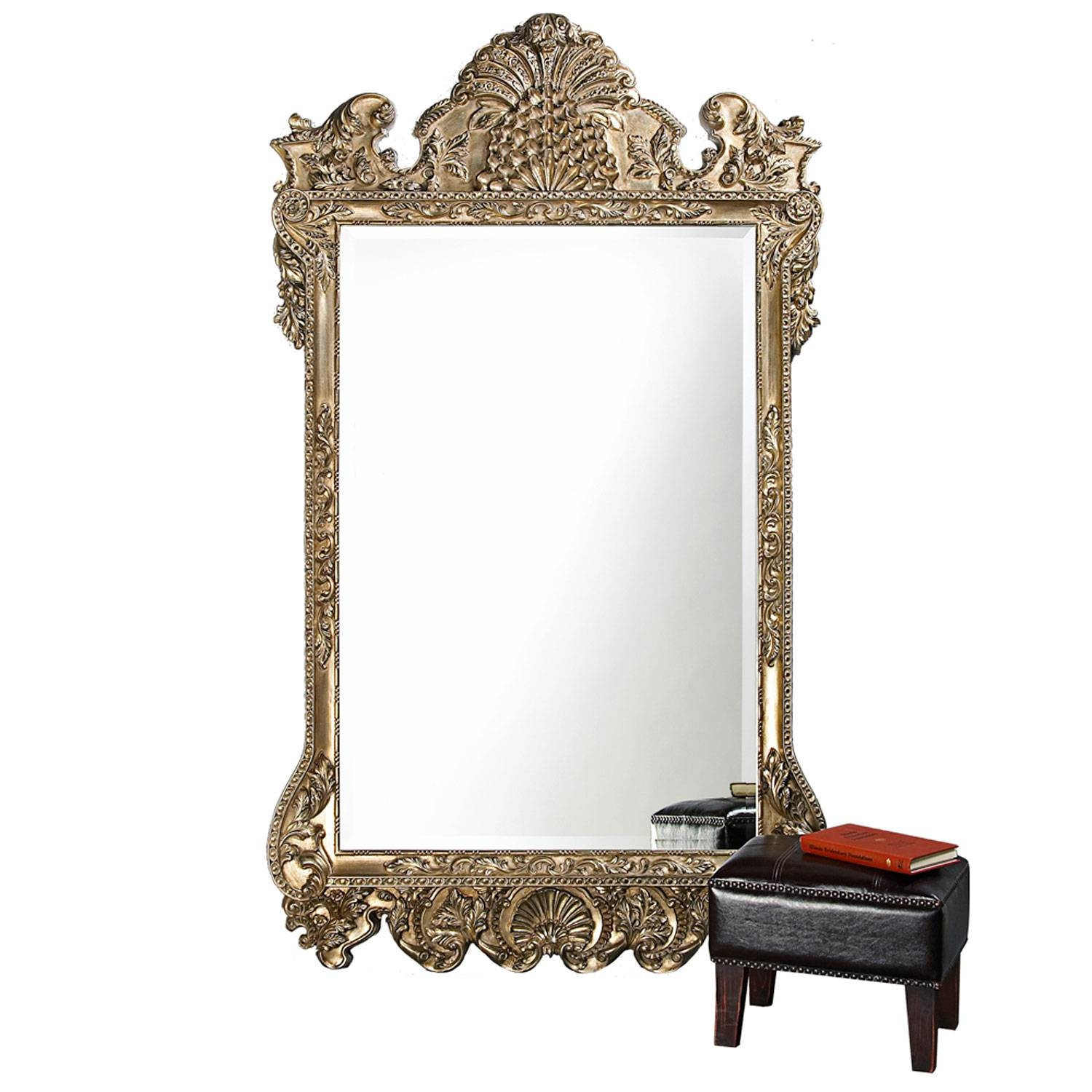 Silver Mirrors | Bellacor for Silver Antique Mirrors (Image 22 of 25)