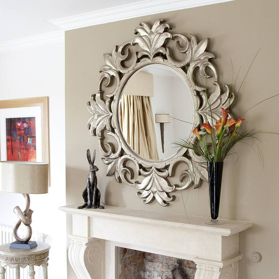 Silver Mirrors For Living Room Silver Mirror Living Room with regard to Ornate Wall Mirrors (Image 23 of 25)