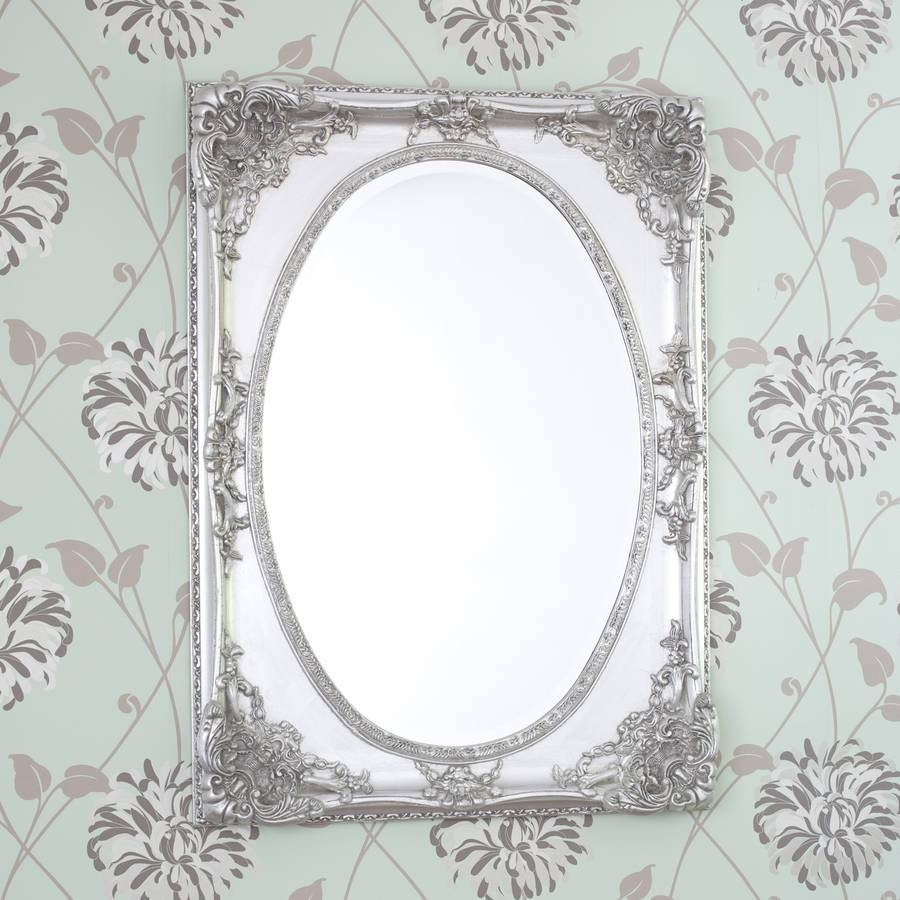 Silver Ornate Oval Shaped Mirrordecorative Mirrors Online regarding Ornate Oval Mirrors (Image 20 of 25)