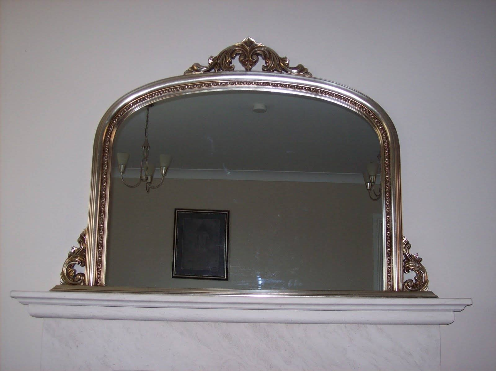 Silver Ornate Overmantle Mirror for Vintage Overmantle Mirrors (Image 23 of 25)