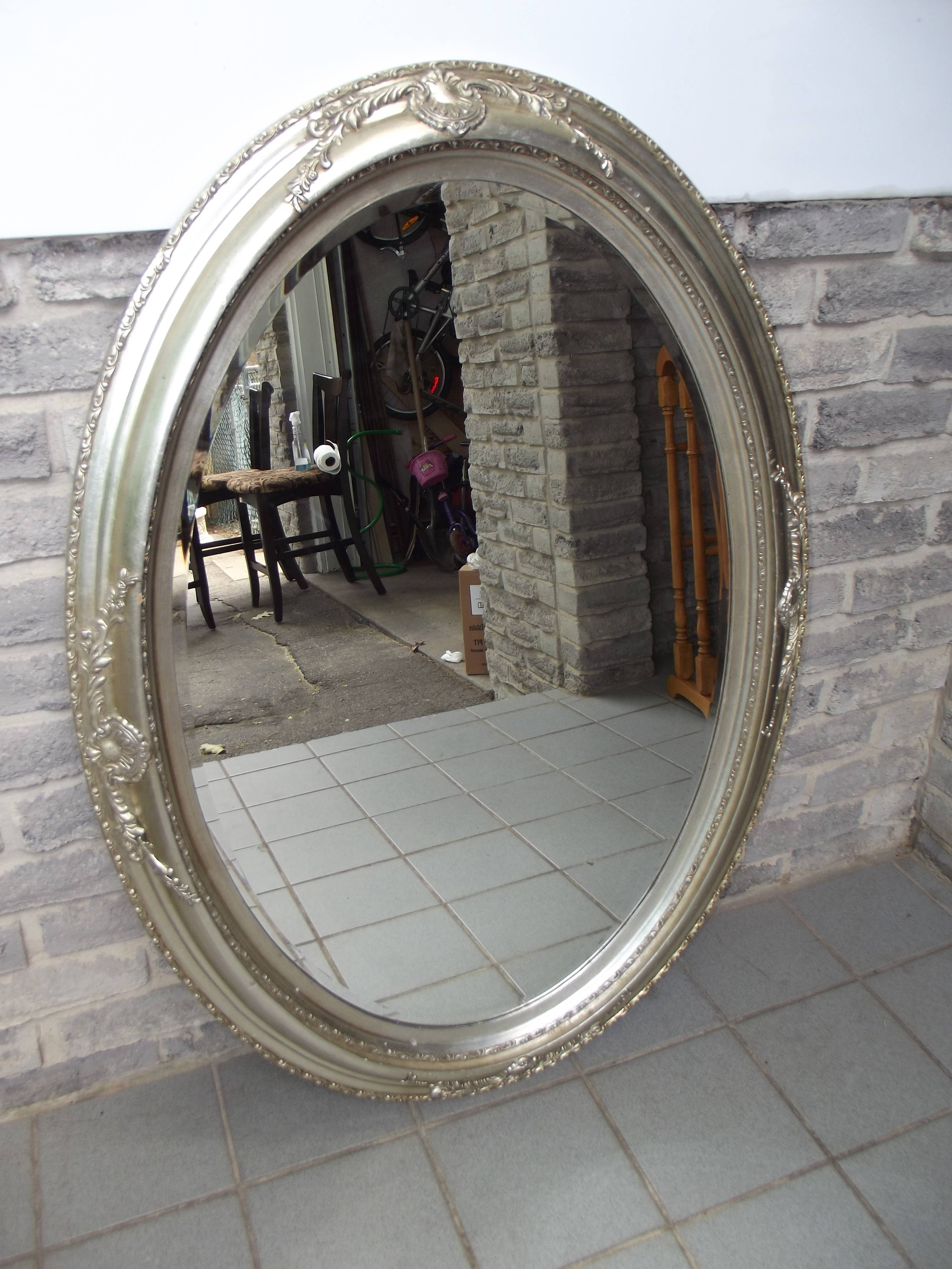 Silver Oval Wall Mirror - Secondhand Pursuit regarding Silver Oval Wall Mirrors (Image 24 of 25)