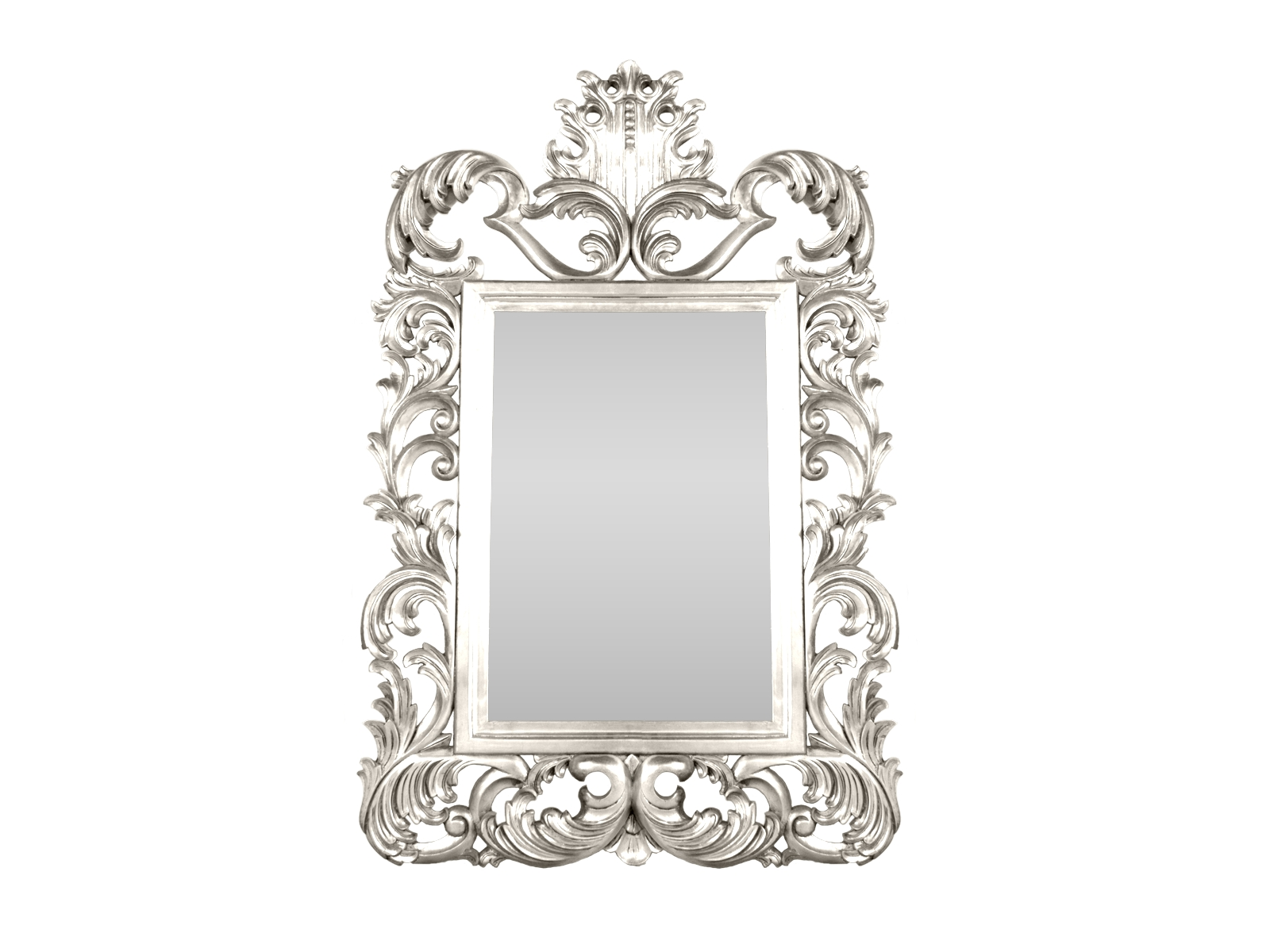 Silver Rococo Mirror - Hidden Mill throughout White Rococo Mirrors (Image 23 of 25)