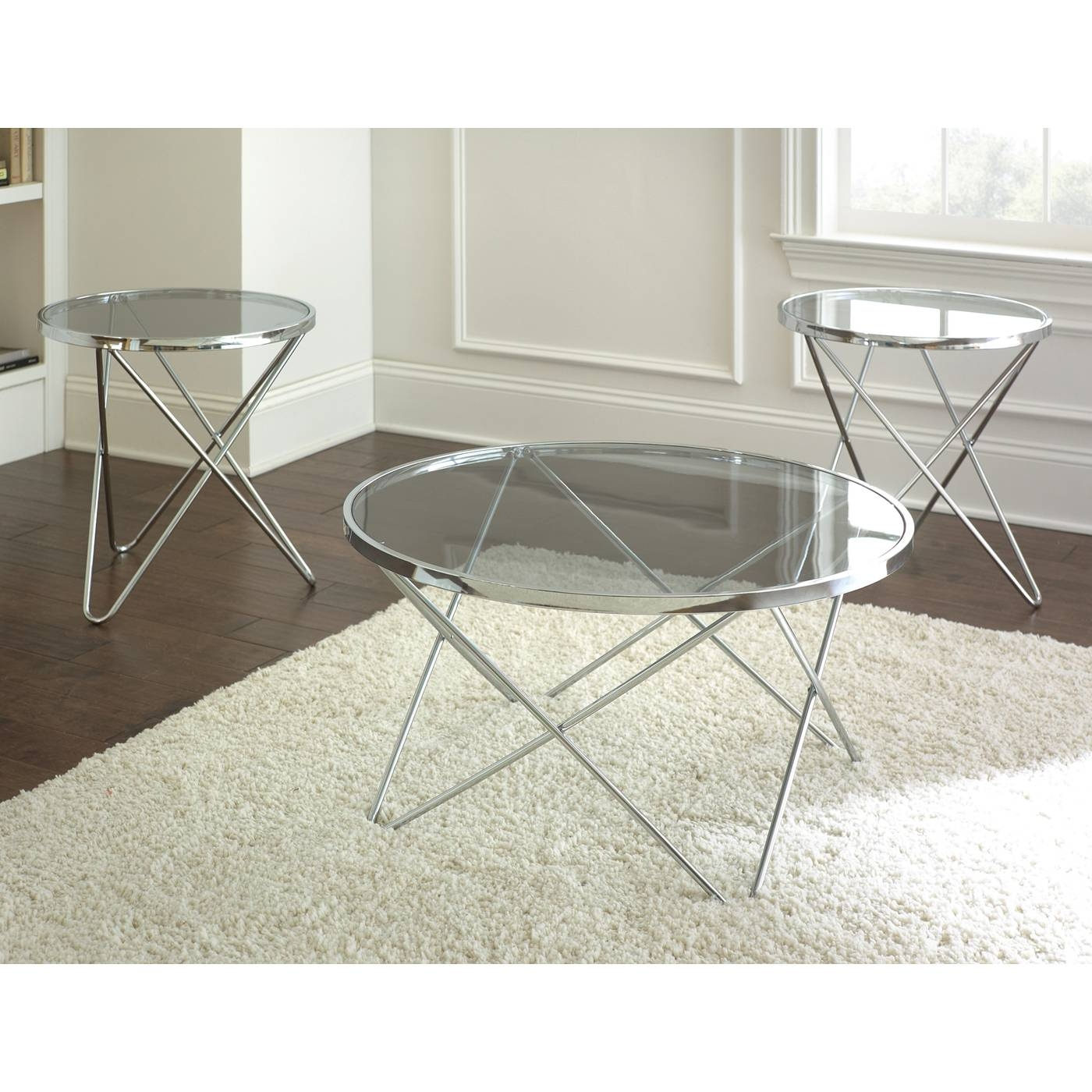 Silver Round Coffee Table – Hammered Silver Round Coffee Table throughout Round Chrome Coffee Tables (Image 28 of 30)