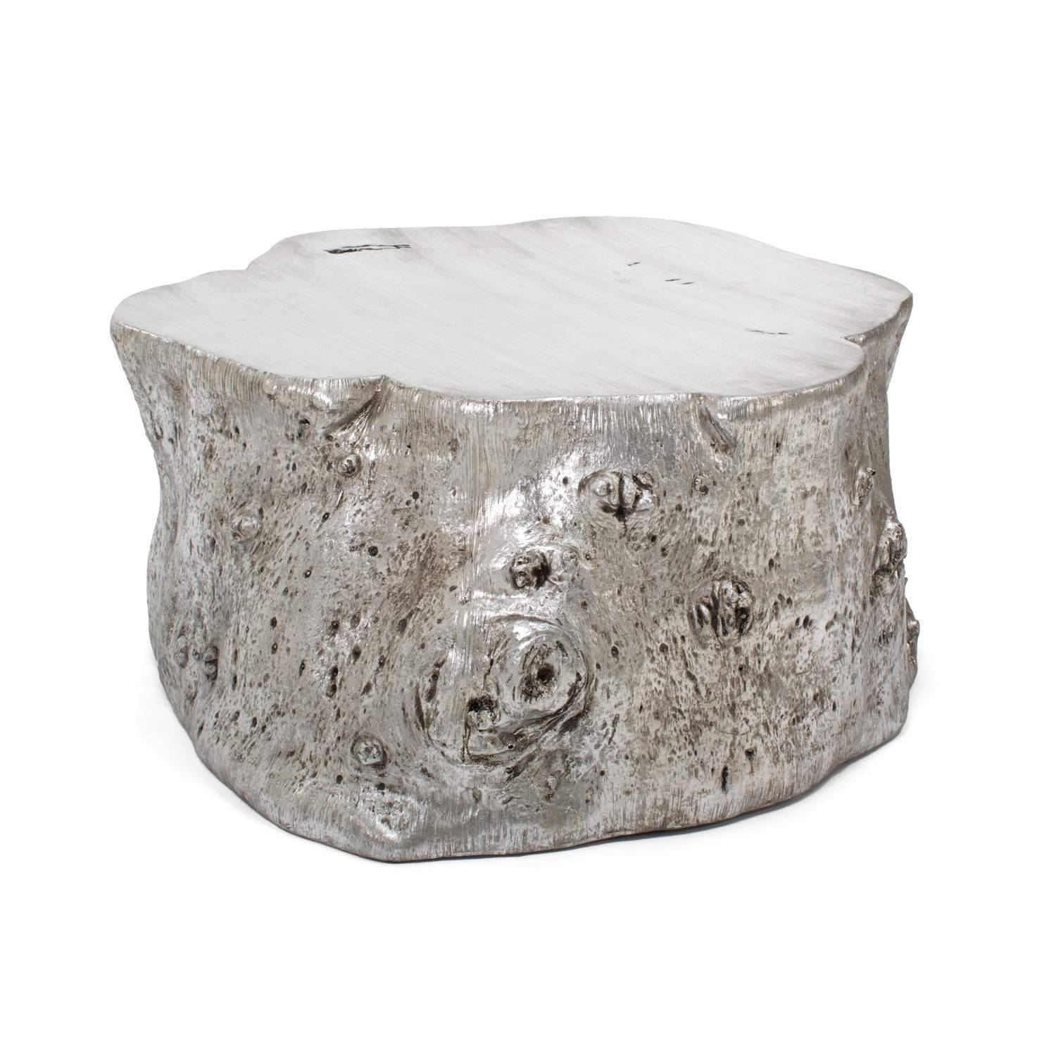 Silver Round Side Table - Starrkingschool regarding Hammered Silver Coffee Tables (Image 29 of 30)