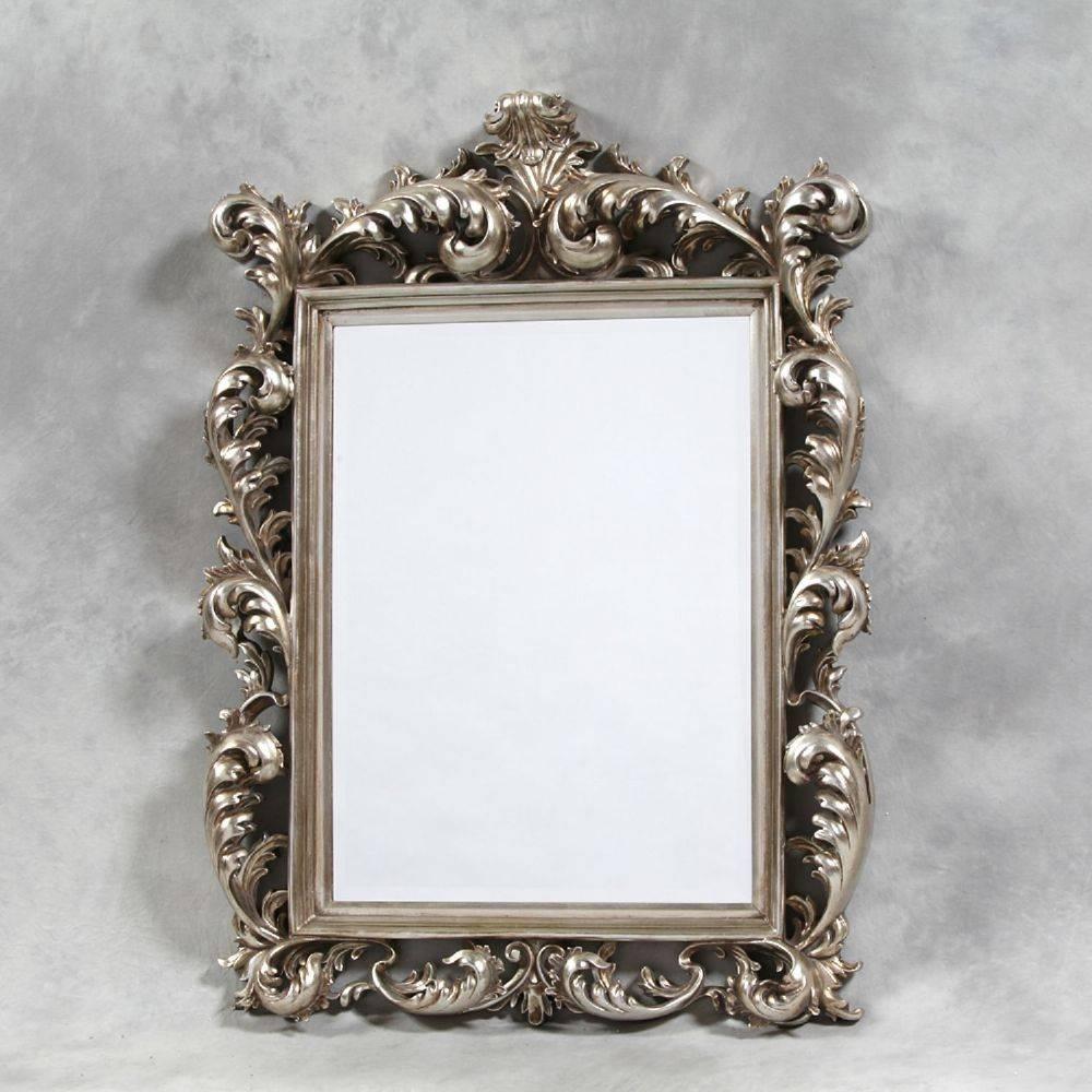 Silver Square Large Rococo Mirror with regard to Rococo Mirrors (Image 23 of 25)
