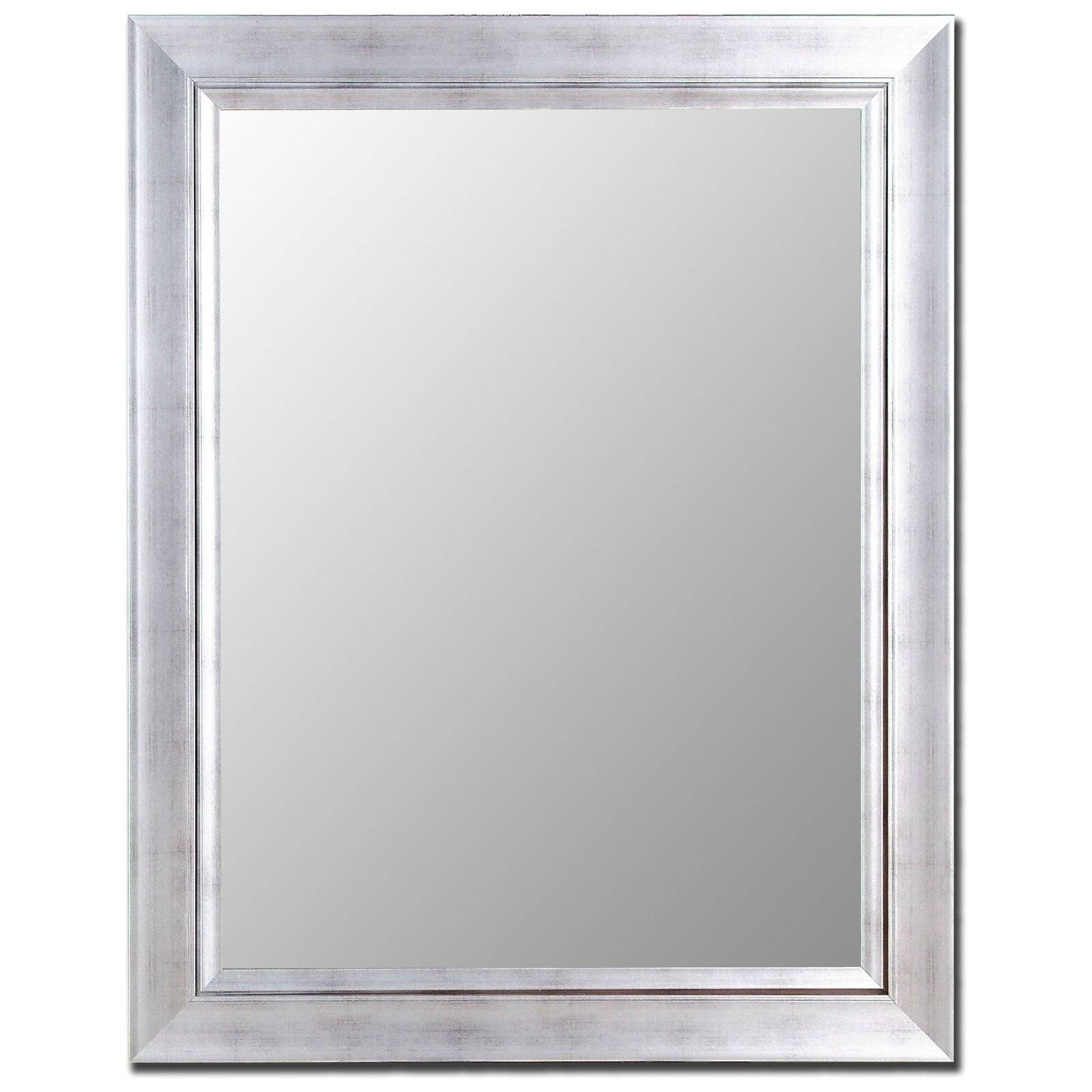 Silver & Stainless Mirror | Hayneedle Inside Silver Mirrors (View 17 of 25)