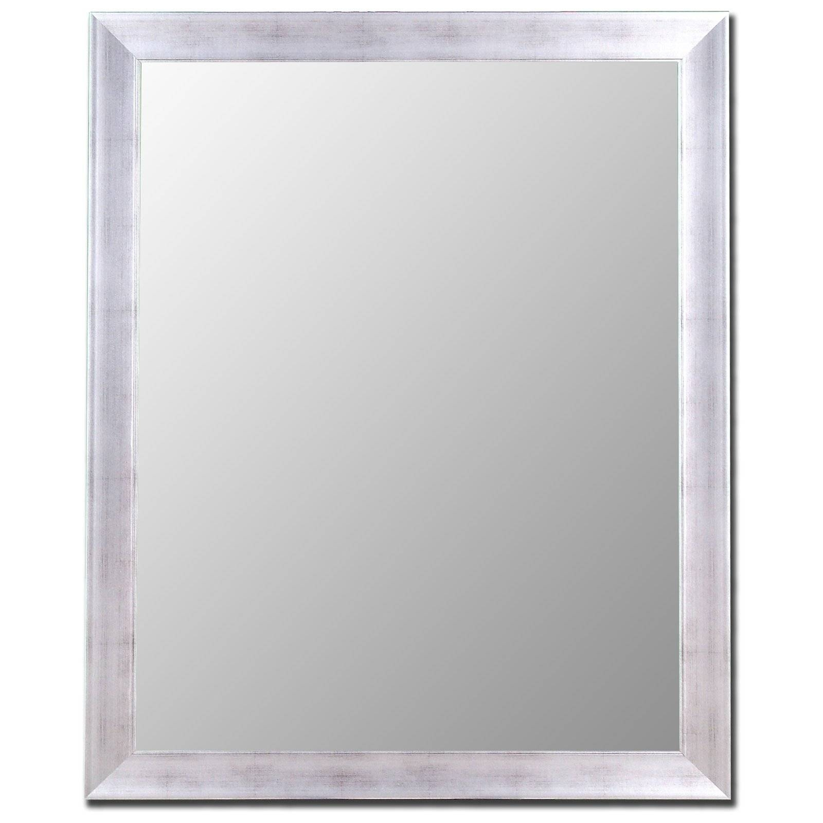 Silver & Stainless Mirror | Hayneedle With Regard To Silver Mirrors (View 18 of 25)