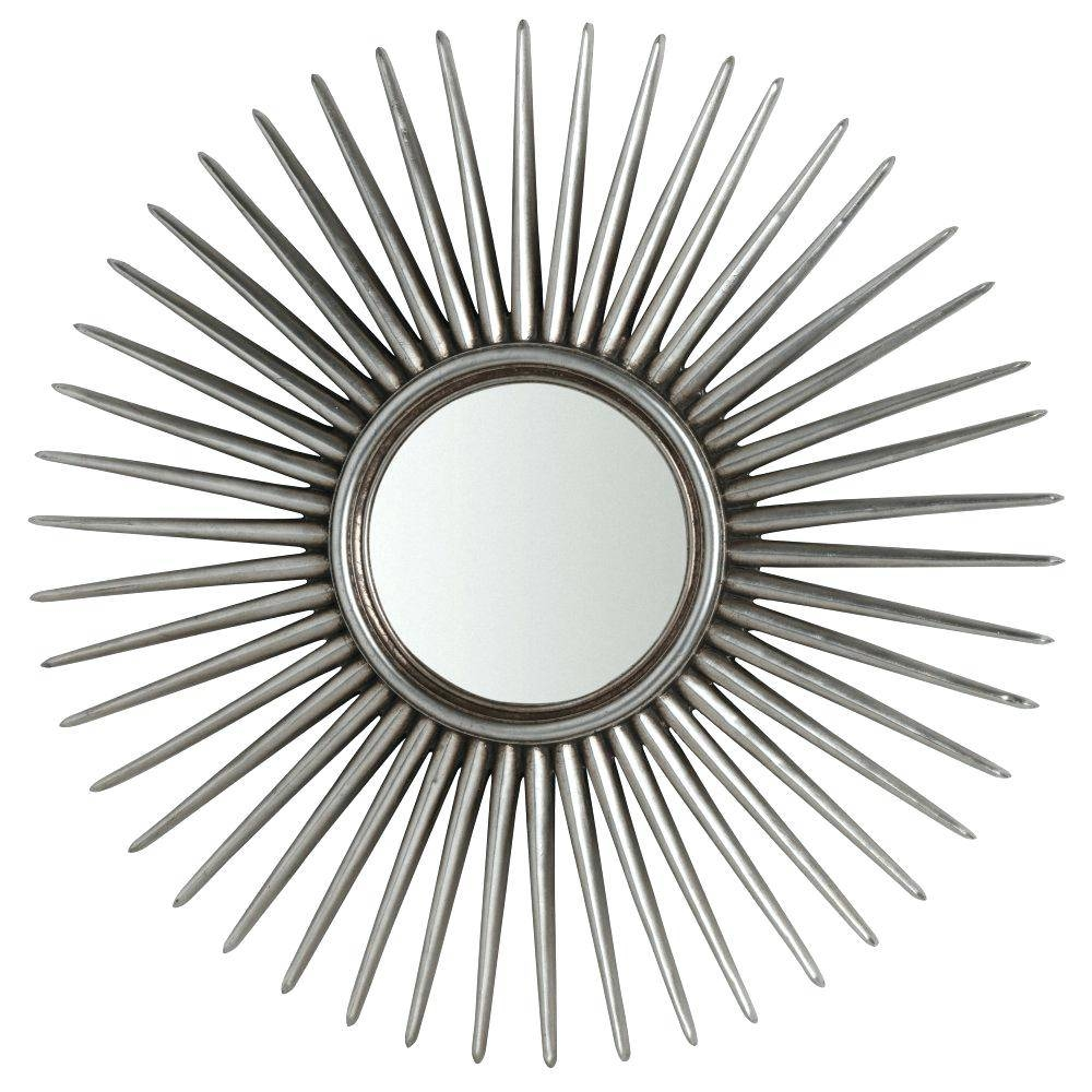 Silver Sun Mirror – Shopwiz Regarding Large Sun Shaped Mirrors (View 16 of 25)