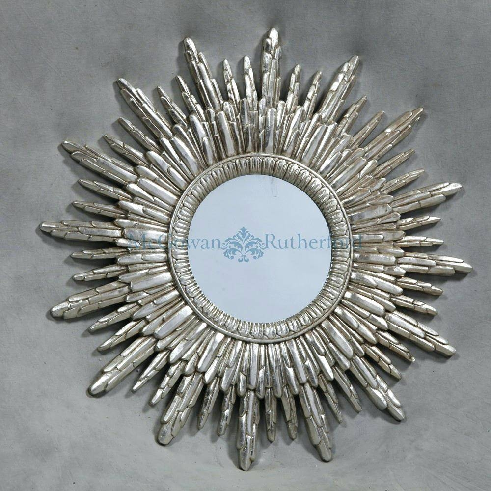 Silver Sun Mirror – Shopwiz within Large Sun Shaped Mirrors (Image 18 of 25)