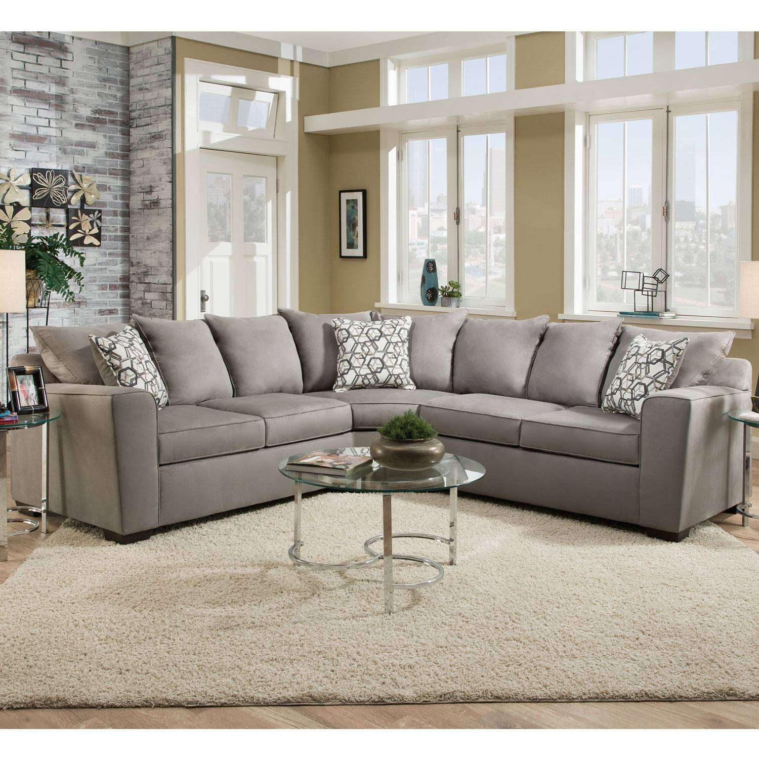 Simmons 8530Br Sectional Sofa Bellamy Slate | Hope Home for Simmons Sectional Sofas (Image 10 of 30)