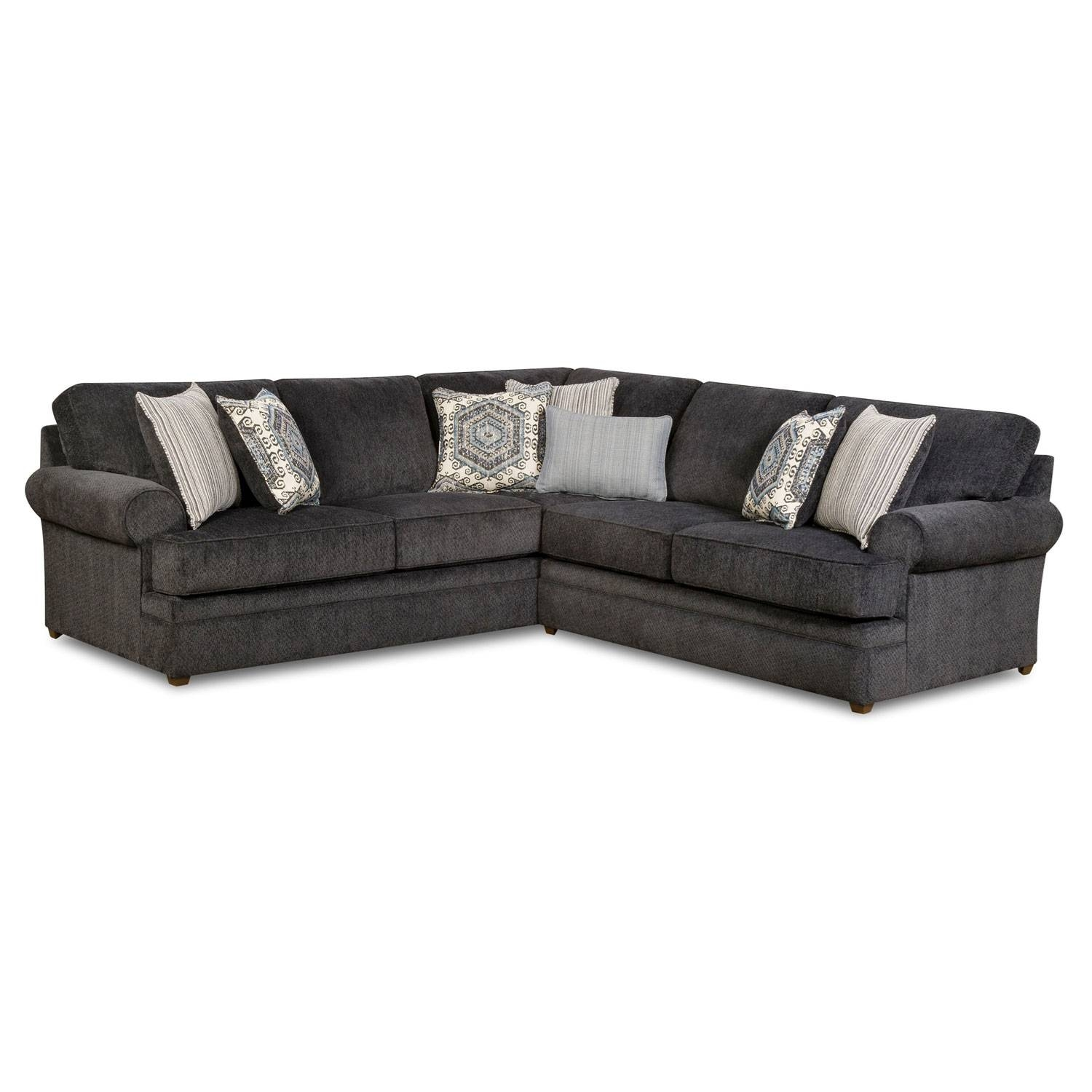 Simmons 8530Br Sectional Sofa Bellamy Slate | Hope Home with Simmons Sectional Sofas (Image 11 of 30)