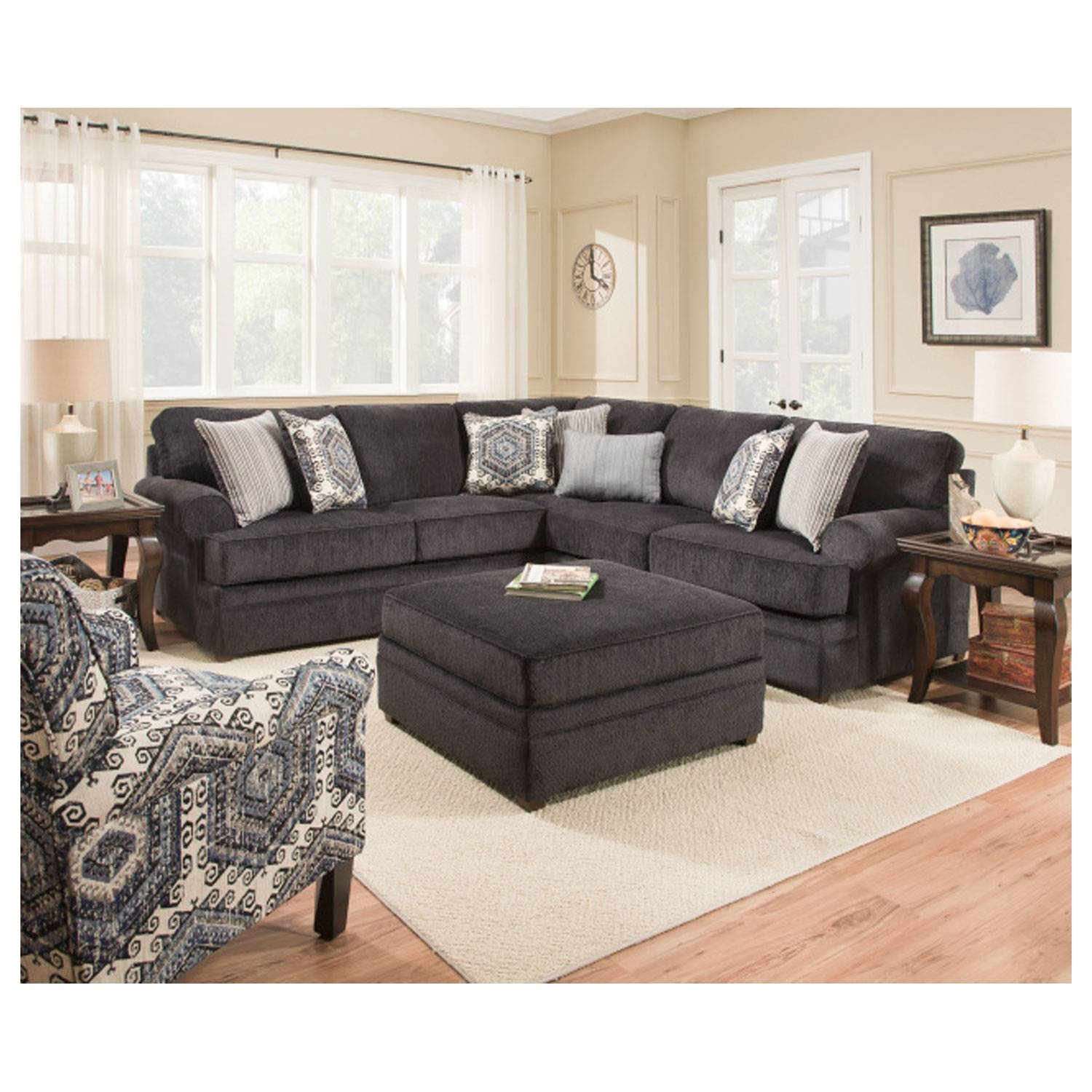 Simmons 8530Br Sectional Sofa Bellamy Slate | Hope Home within Simmons Sectional Sofas (Image 12 of 30)