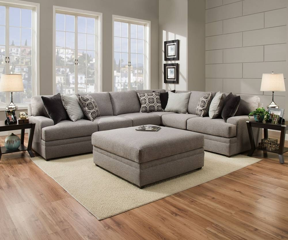 Simmons Beautyrest 8561 Pocket Coil Grey Sectional Sofa San Diego with Simmons Sectional Sofas (Image 13 of 30)