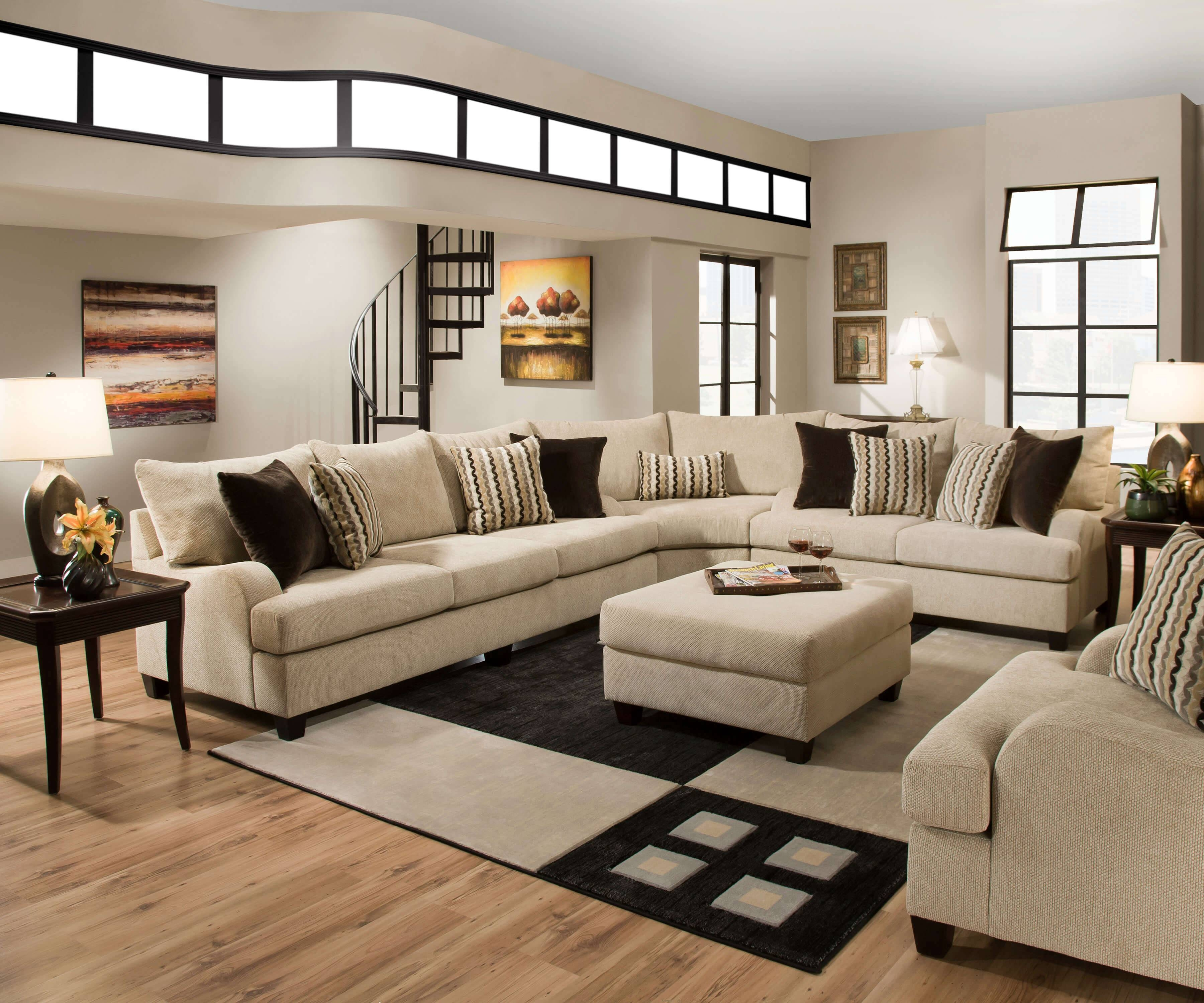 Simmons Trinidad Taupe Sectional Set | Sectional Furniture with Simmons Sectional Sofas (Image 17 of 30)