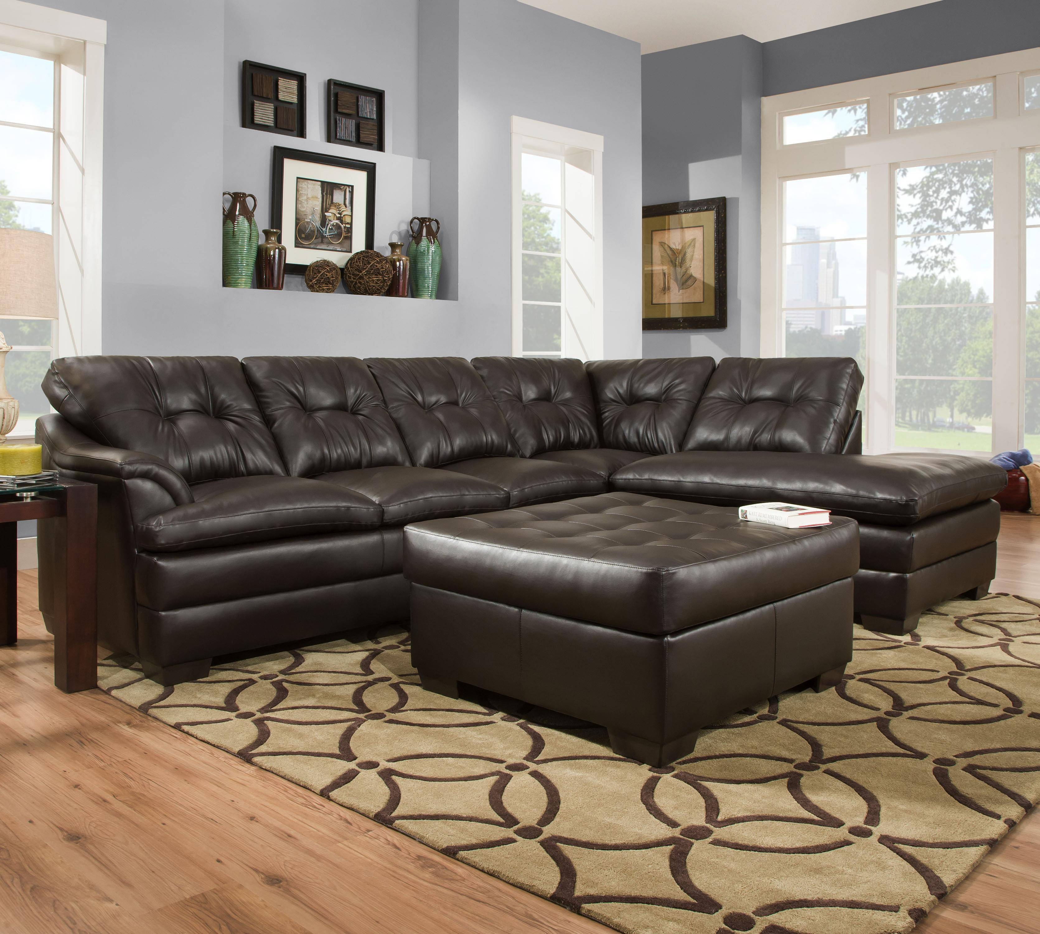 Simmons Upholstery 5122 Transitional Sectional Sofa With Tufted intended for Simmons Sectional Sofas (Image 19 of 30)