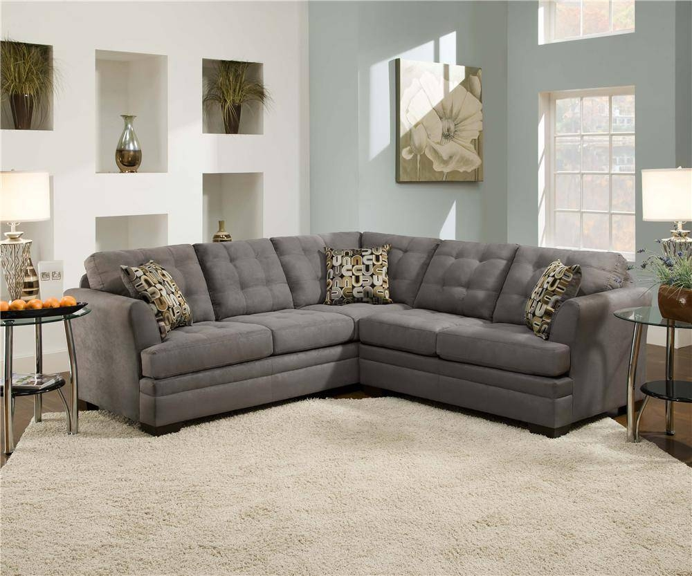 Simmons Upholstery Velocity Velocity Slate 2-Piece Sectional intended for Simmons Sectional Sofas (Image 24 of 30)