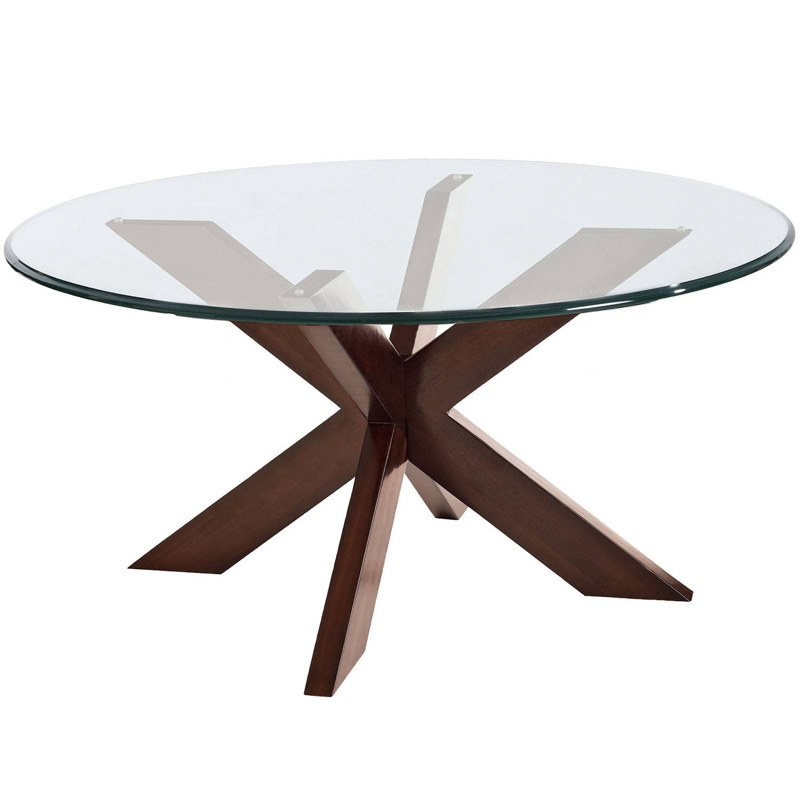 Simon X Coffee Table Base Espresso | Coffee Tables Decoration intended for Swirl Glass Coffee Tables (Image 18 of 30)