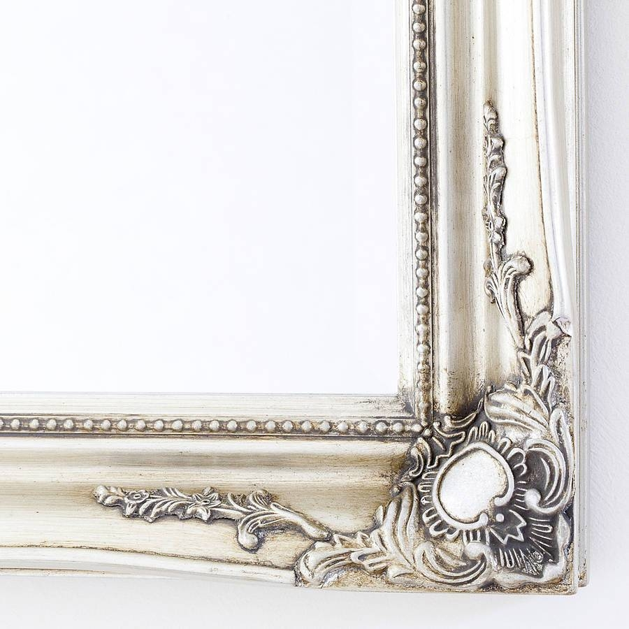 Simple Classic French Silver Mirrordecorative Mirrors Online regarding Silver French Mirrors (Image 23 of 25)