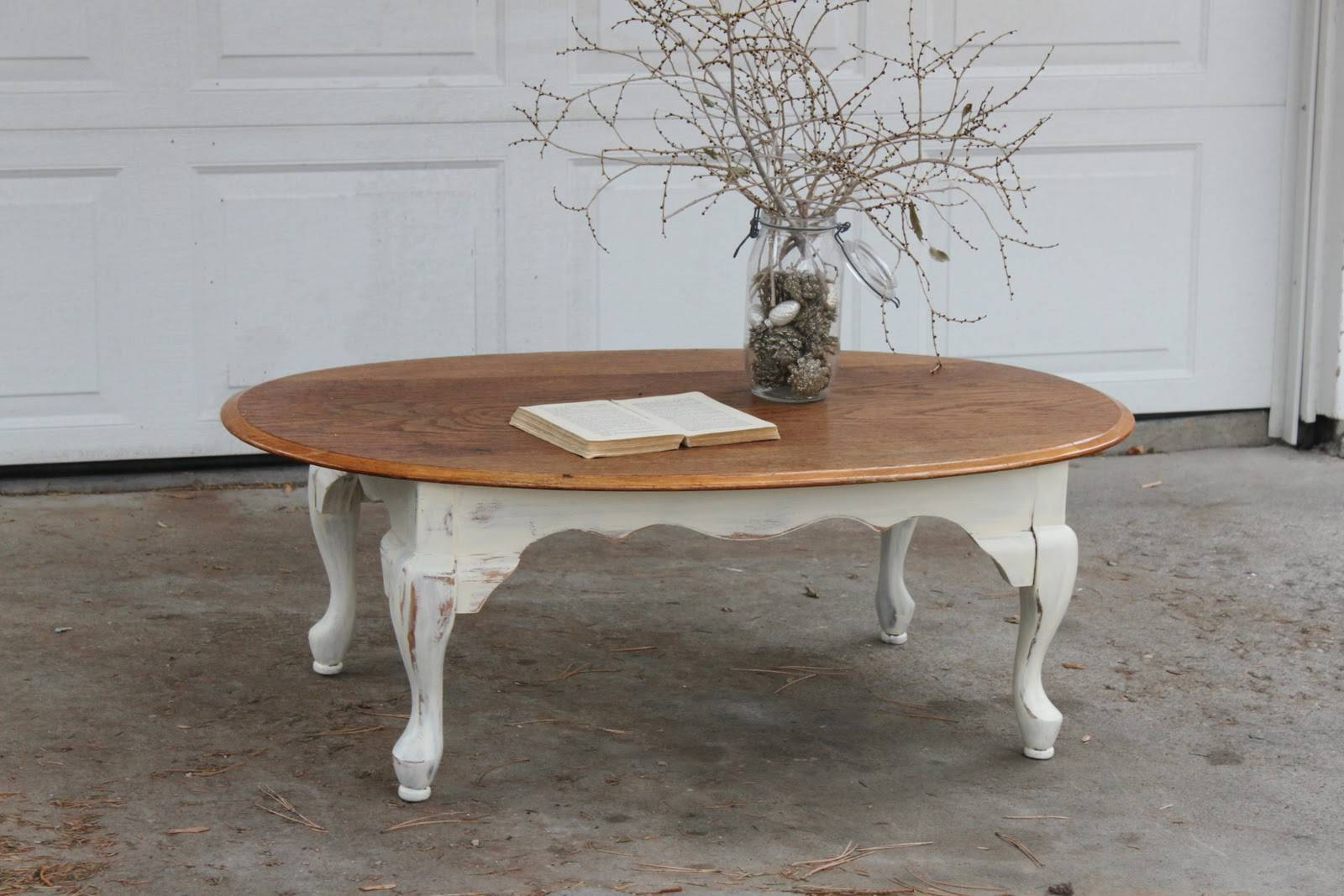 Simple Rectangle White Wood Table Ornate Curve Legs Wooden Top For Curve Coffee Tables (View 27 of 30)