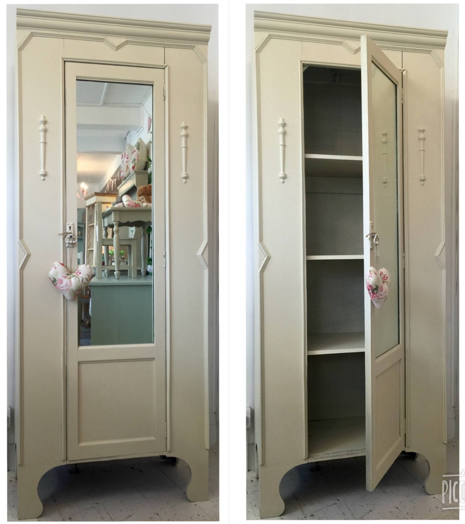 Single Cream Wardrobe – Linen Cupboard – Home Sweet Homehome Sweet With Regard To Cream Single Wardrobes (View 13 of 15)