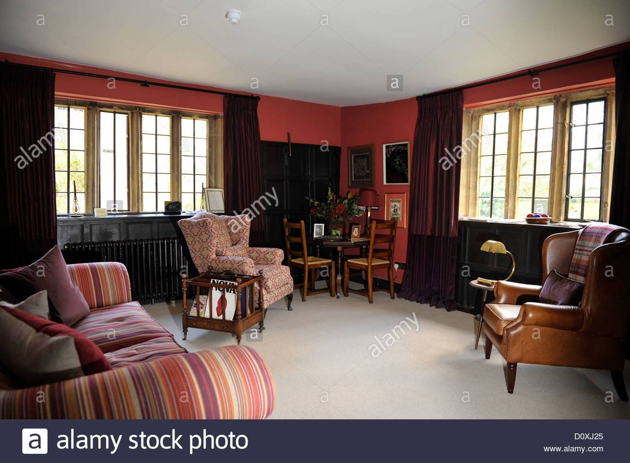 Sitting Room Of Country House Uk, With Comfy Sofas And Chairs inside Country Sofas and Chairs (Image 13 of 15)