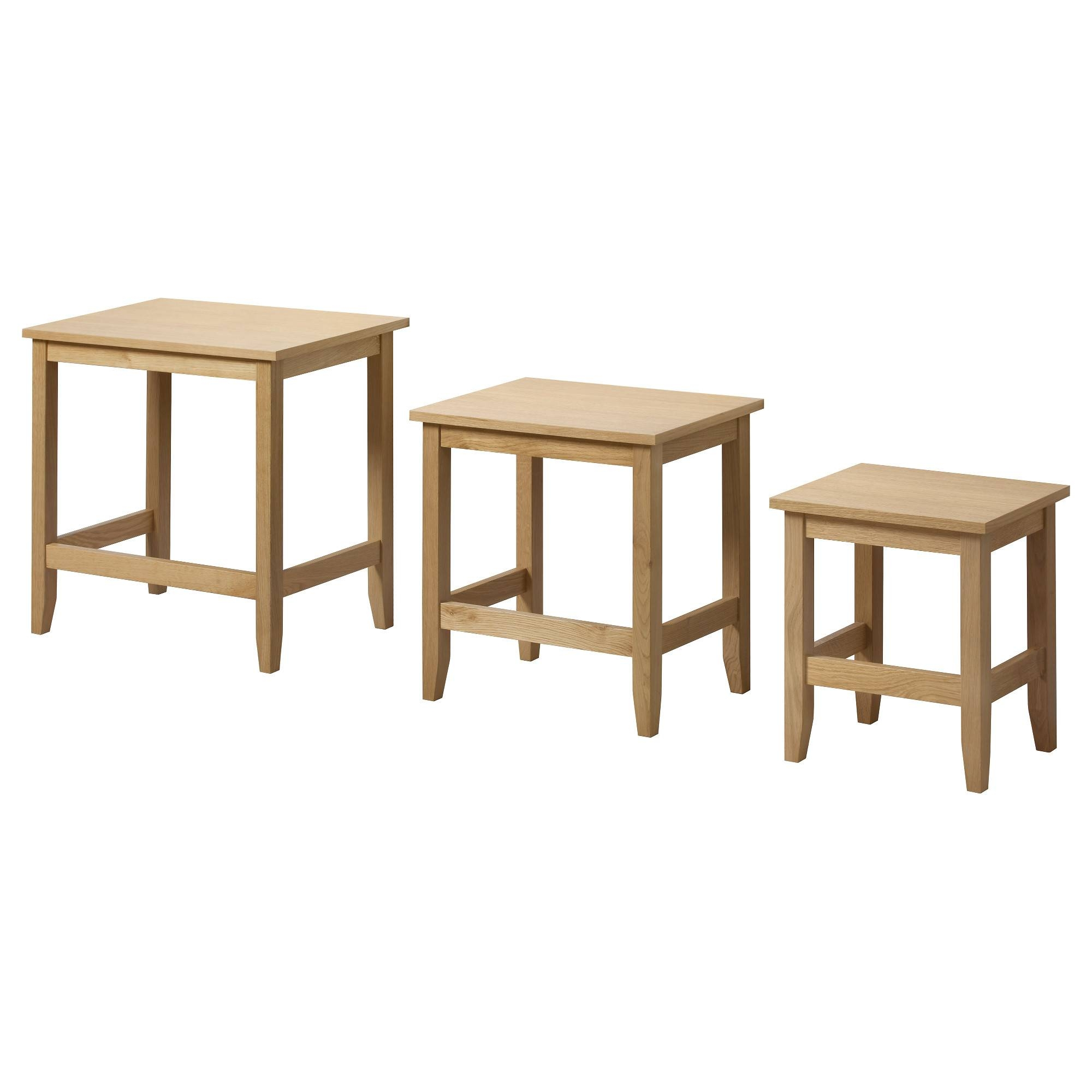 Skoghall Nest Of Tables, Set Of 3 Oak - Ikea inside Nest Coffee Tables (Image 24 of 30)