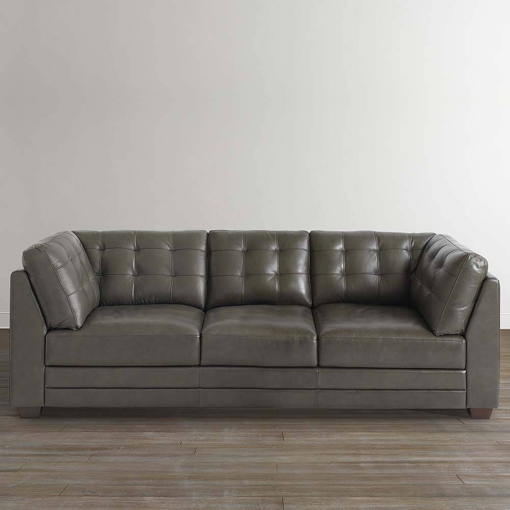 Slate Gray Leather Sofa | Bassett Home Furnishings in Bassett Sofa Bed (Image 19 of 30)
