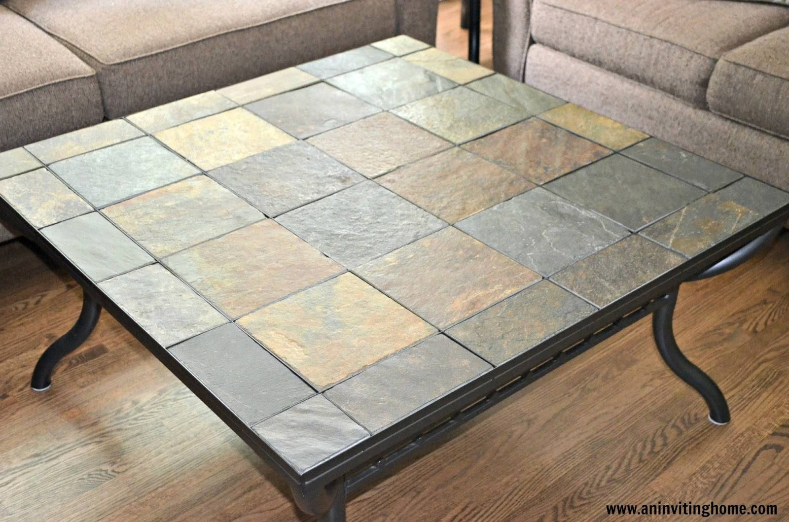 Slate Tile Coffee Table Best Modern Coffee Table For Round Coffee With Round Slate Top Coffee Tables (Photo 16 of 30)