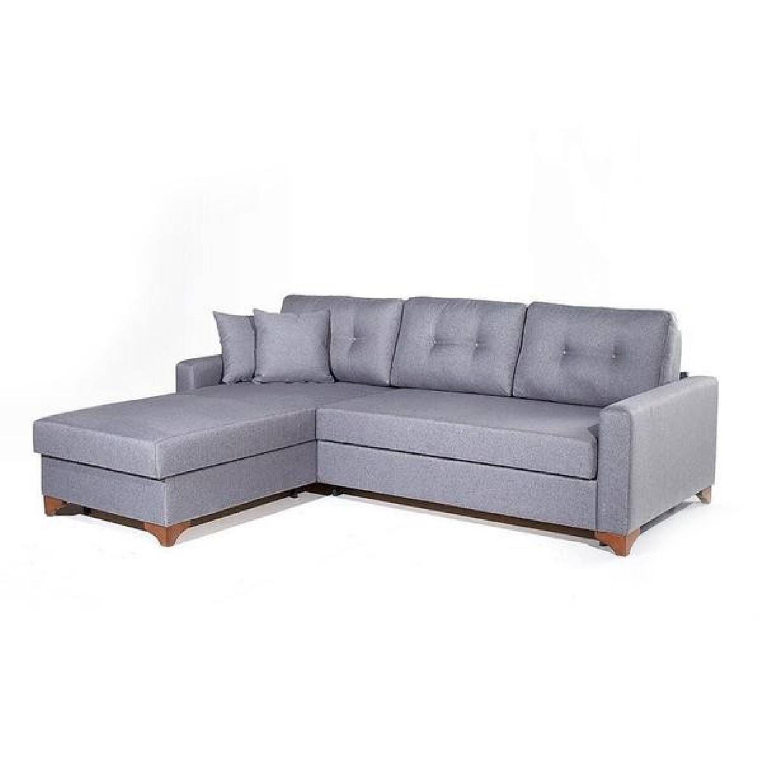 Sleeper Sectional Sofa W/ Storage - Aptdeco in Sectional Sofa With Storage (Image 18 of 25)