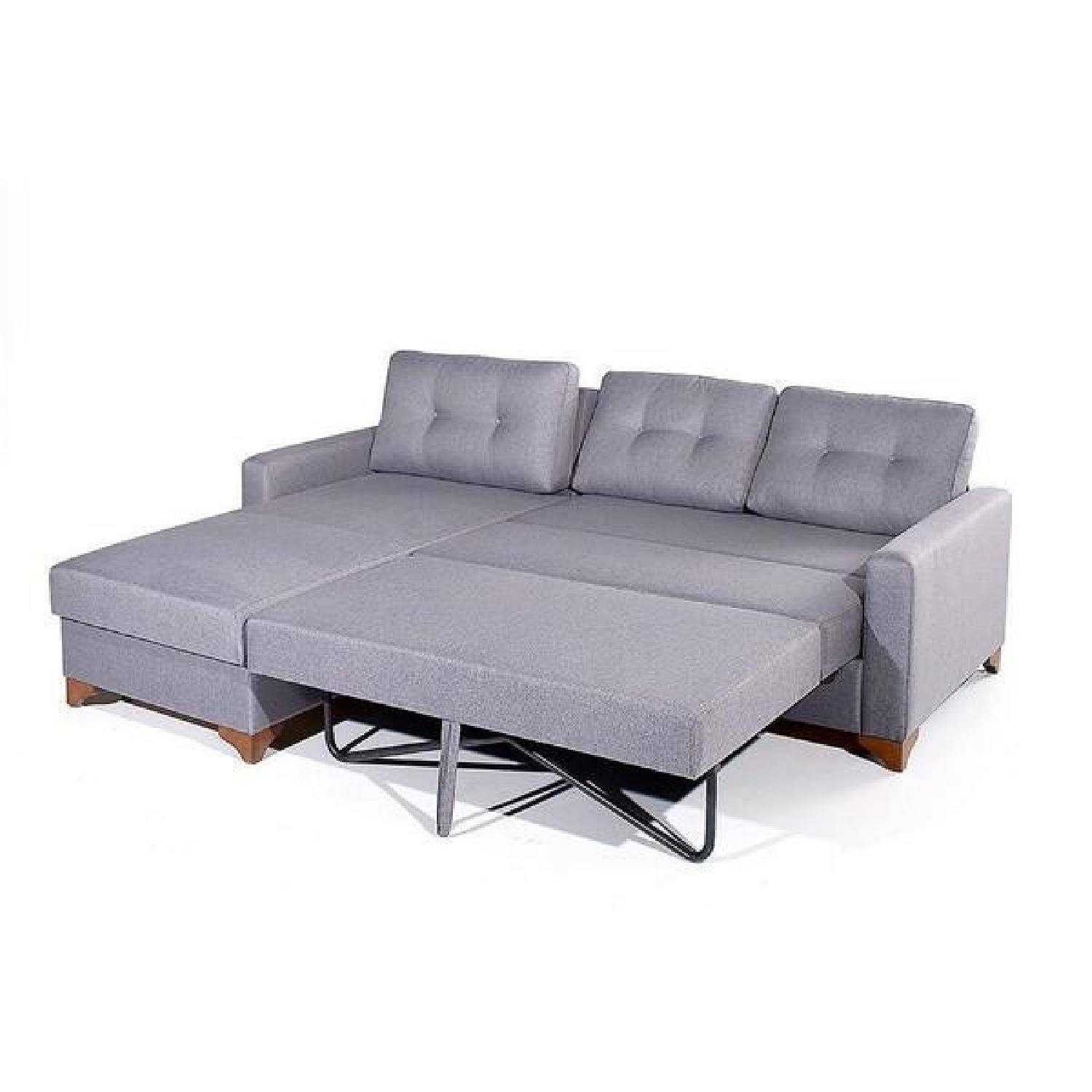 Sleeper Sectional Sofa W/ Storage - Aptdeco with regard to Sectional Sofa With Storage (Image 19 of 25)