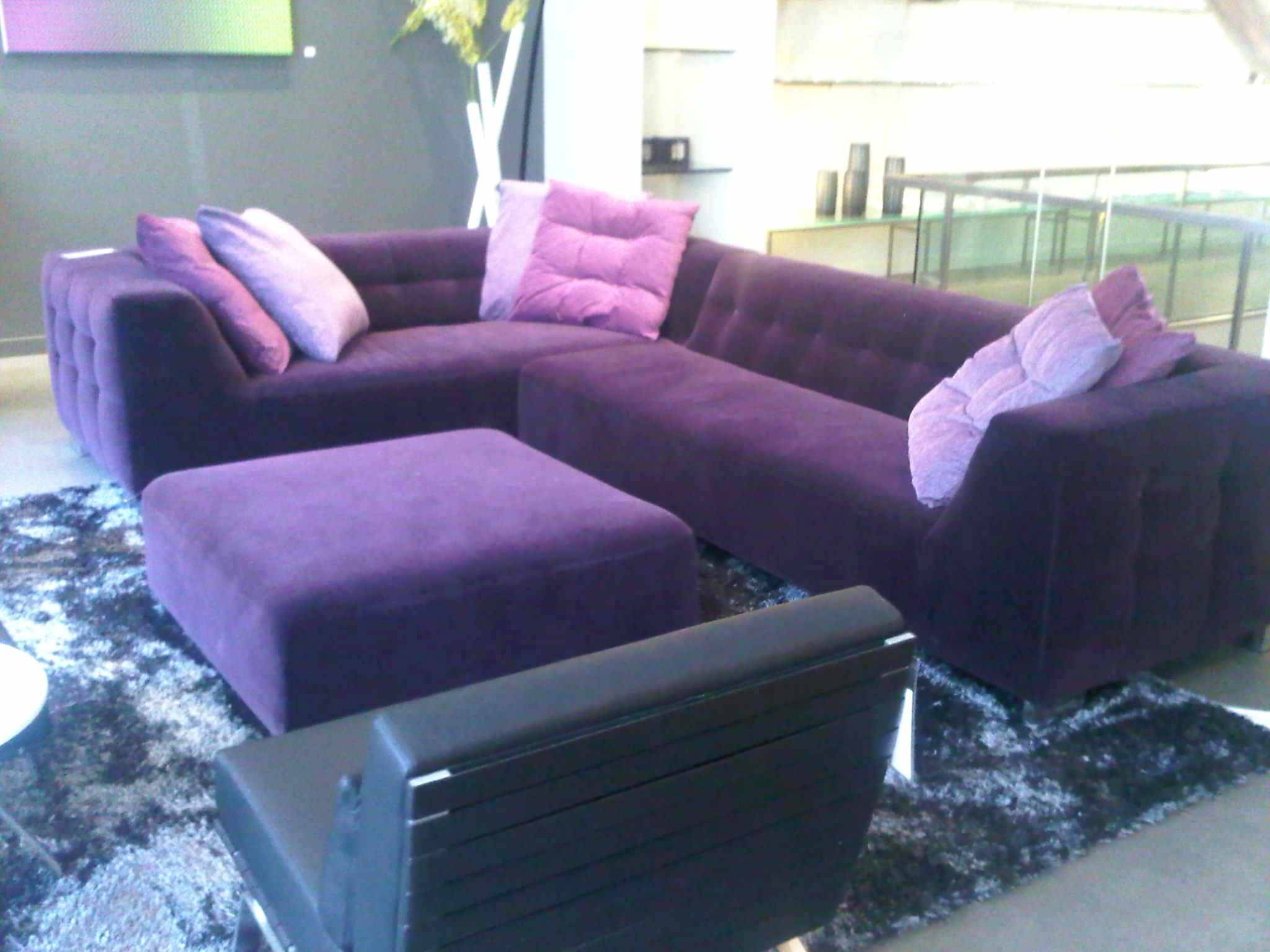 Sleeper Sectionals For Small Spaces Beautiful Purple Microfiber inside Velvet Purple Sofas (Image 24 of 30)