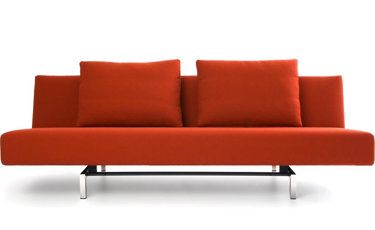Sleeper Sofa With 2 Cushions - Hivemodern for Cushion Sofa Beds (Image 20 of 30)