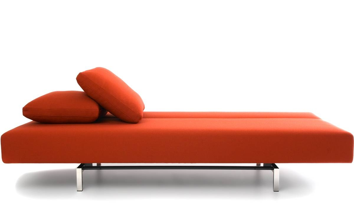 Sleeper Sofa With 2 Cushions – Hivemodern With Cushion Sofa Beds (View 21 of 30)