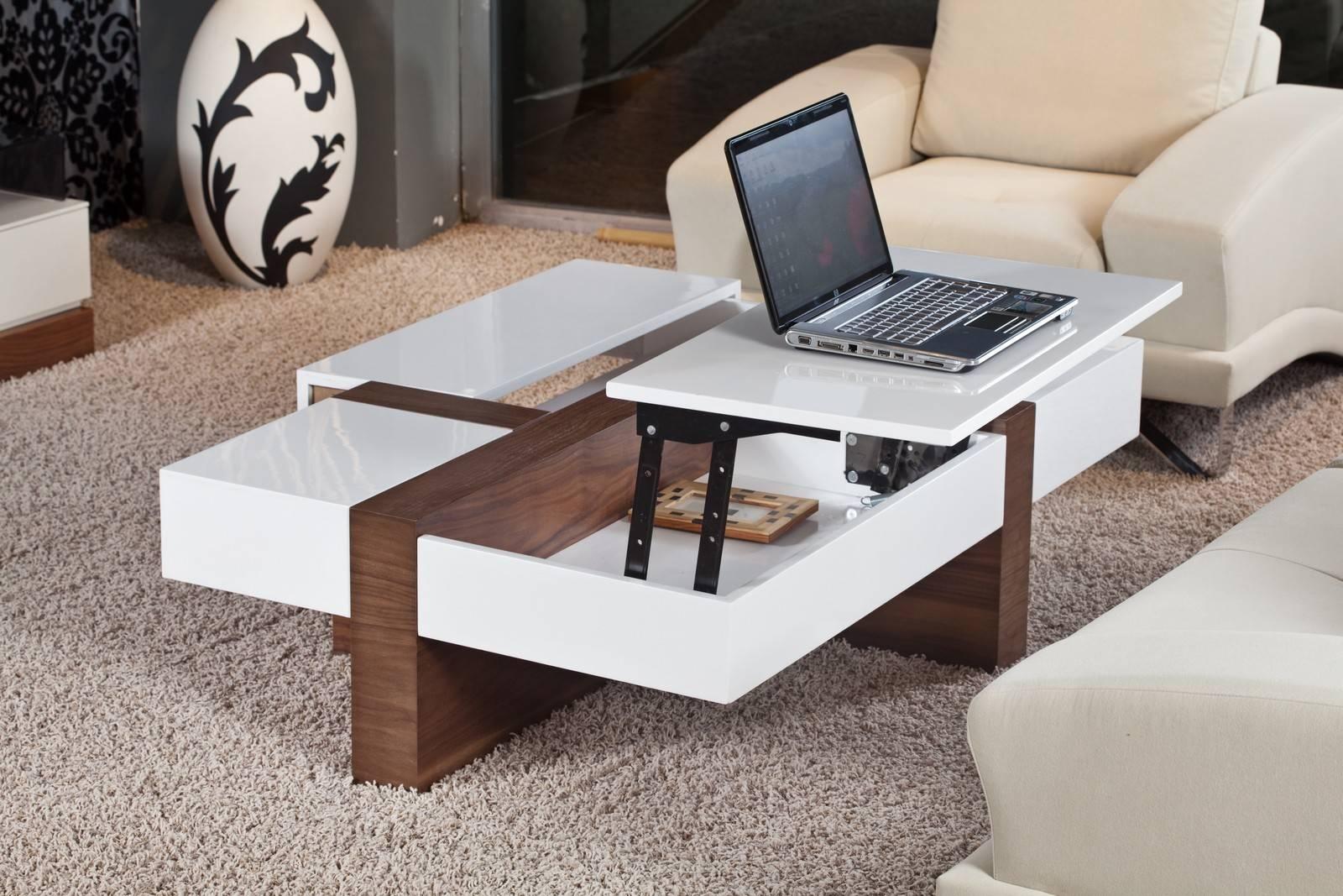 Slender Modern Lift Top Storage Coffee Table | Coffee Tables intended for Coffee Tables With Lift Top Storage (Image 27 of 30)