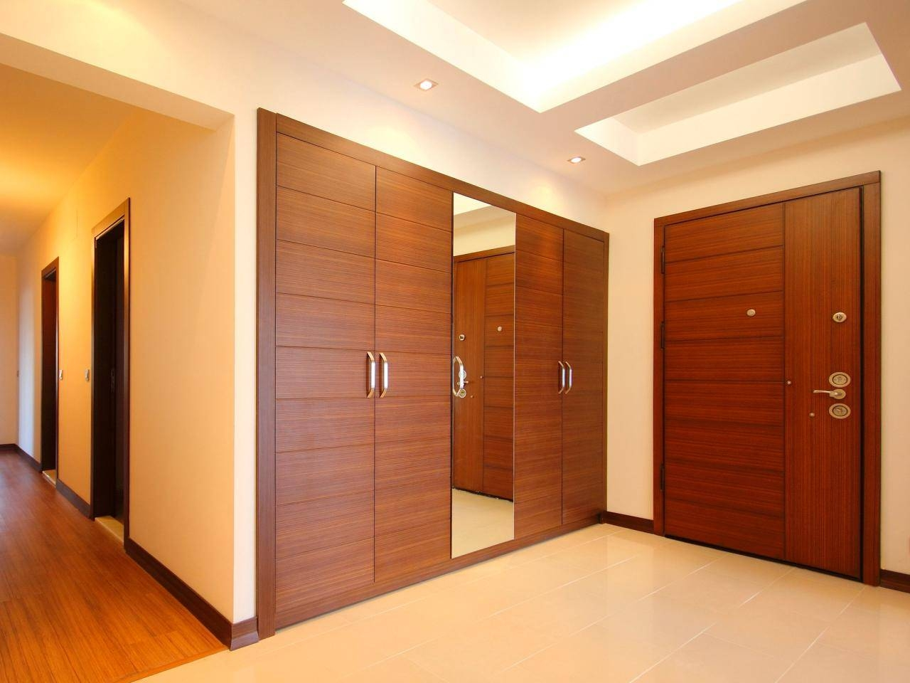 30 Photos Dark Wood Wardrobe Doors