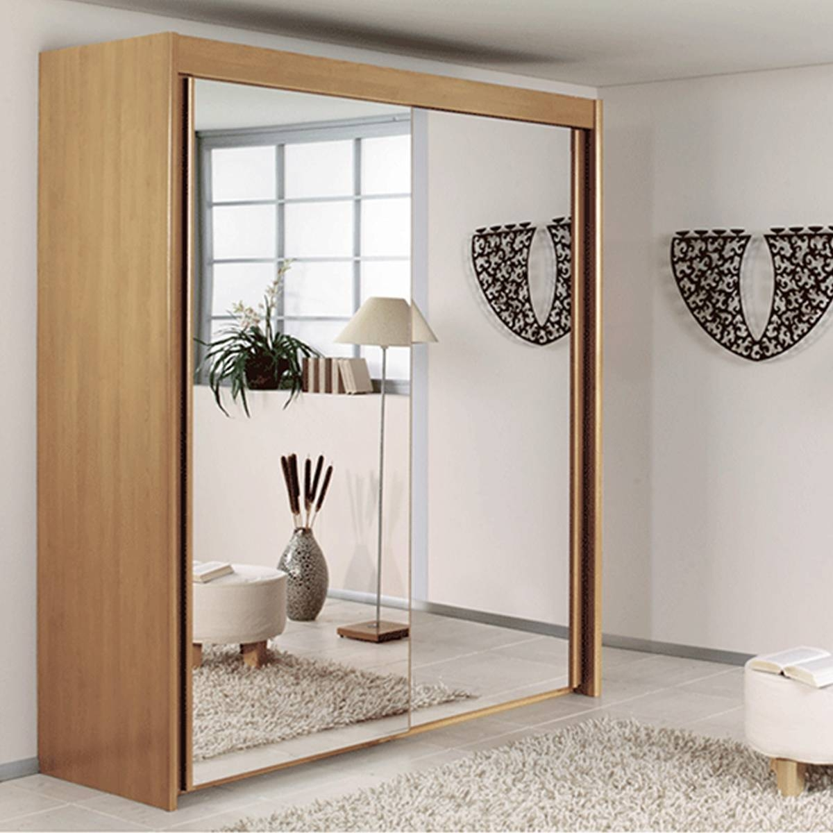 Sliding Door Mirrored Wardrobe From The House Of Reeves Croydon With Double Mirrored Wardrobes (View 9 of 15)