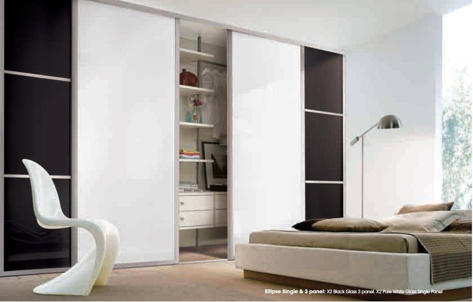 Sliding Wardrobe Doors And Wardrobe Interiors | Coloured Glass with Coloured Wardrobes (Image 14 of 15)