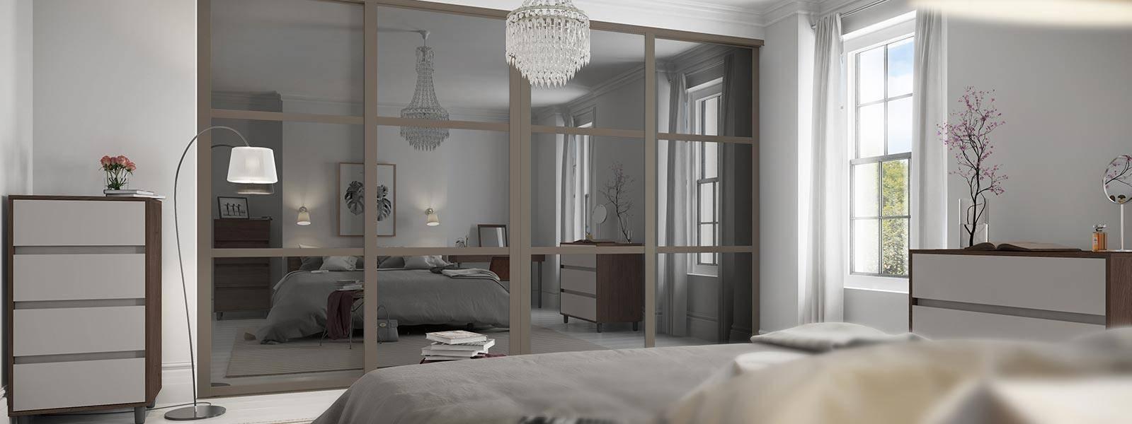 Sliding Wardrobe Doors, Mirrored Wardrobe Doors | Spaceslide regarding Mirrored Wardrobes (Image 14 of 15)