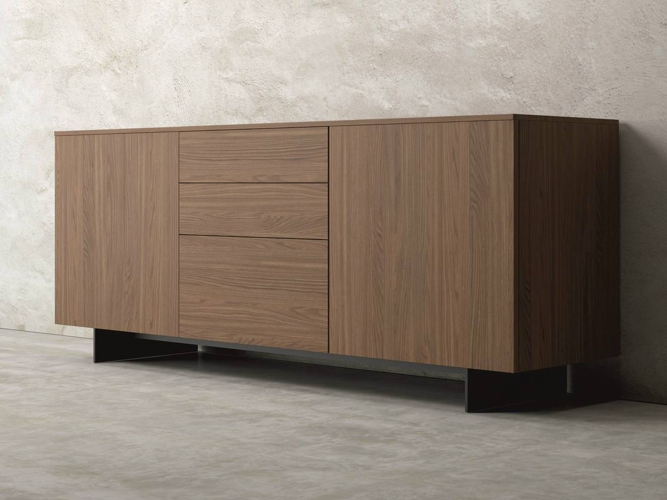 Slim | Walnut Sideboarddall'agnese Design Imago Design inside Slim Sideboards (Image 26 of 30)