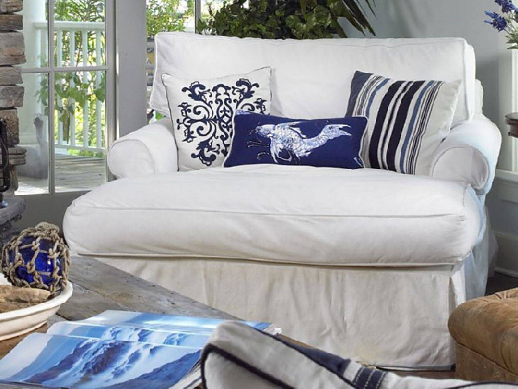 Slipcovered Furniture: Chairs, Sectionals & Sofas In Slipcover Fabrics Pertaining To Slipcovers For Chairs And Sofas (View 13 of 15)