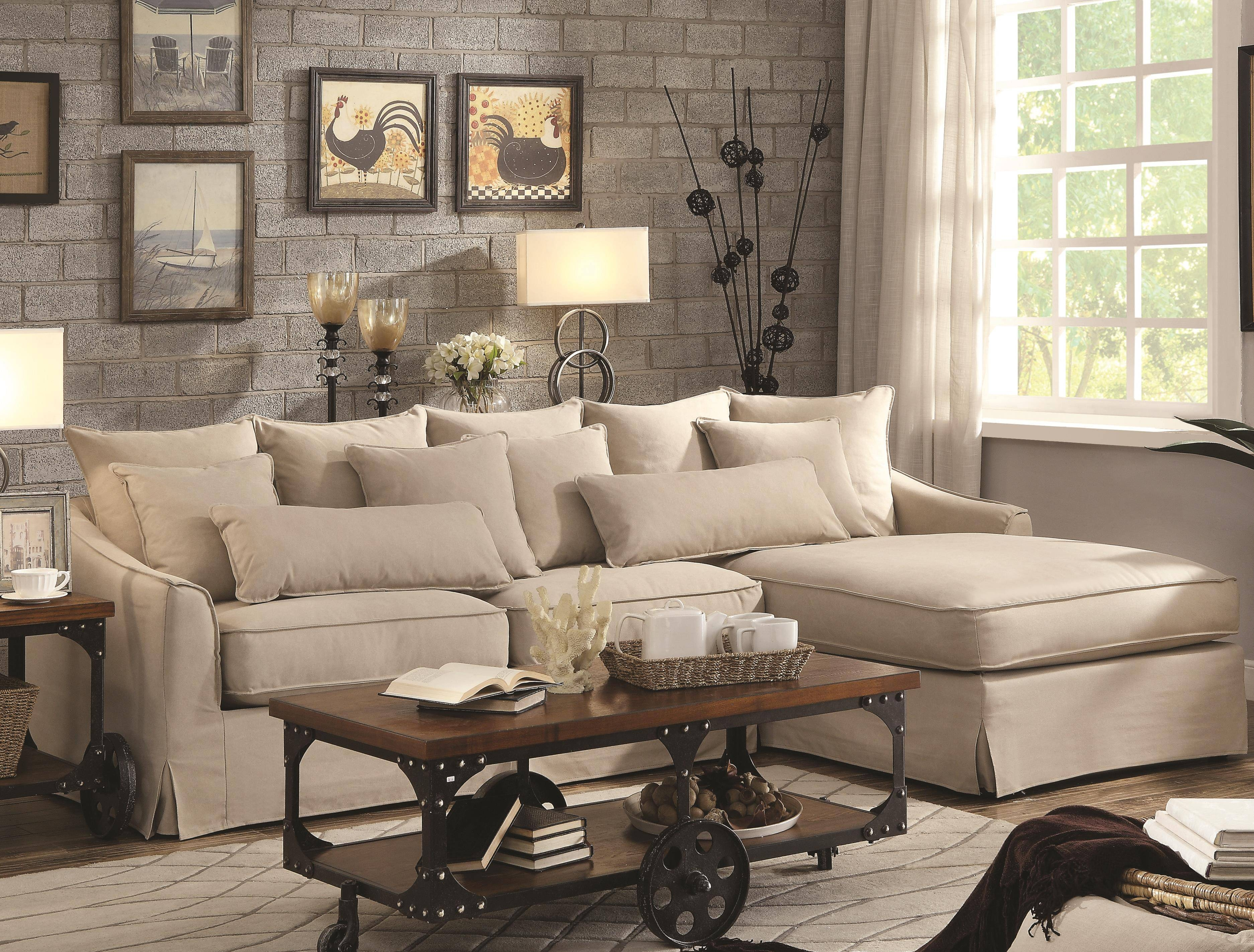 Slipcovered Sectional Sofa With Chaise | Tehranmix Decoration for Comfy Sectional Sofa (Image 24 of 30)