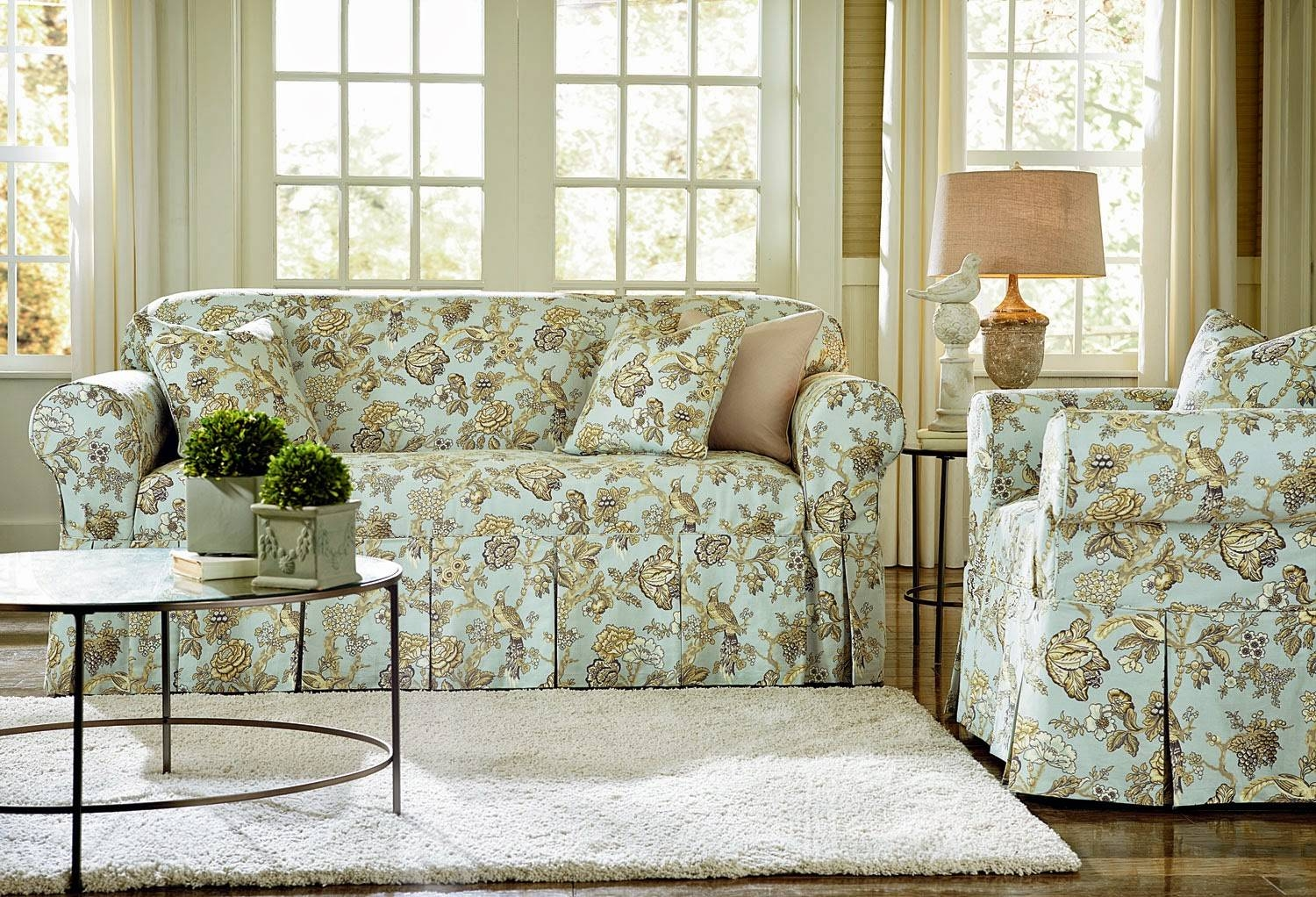 Slipcovered Sofas And Chairs | Sofas Decoration regarding Floral Sofas And Chairs (Image 15 of 15)