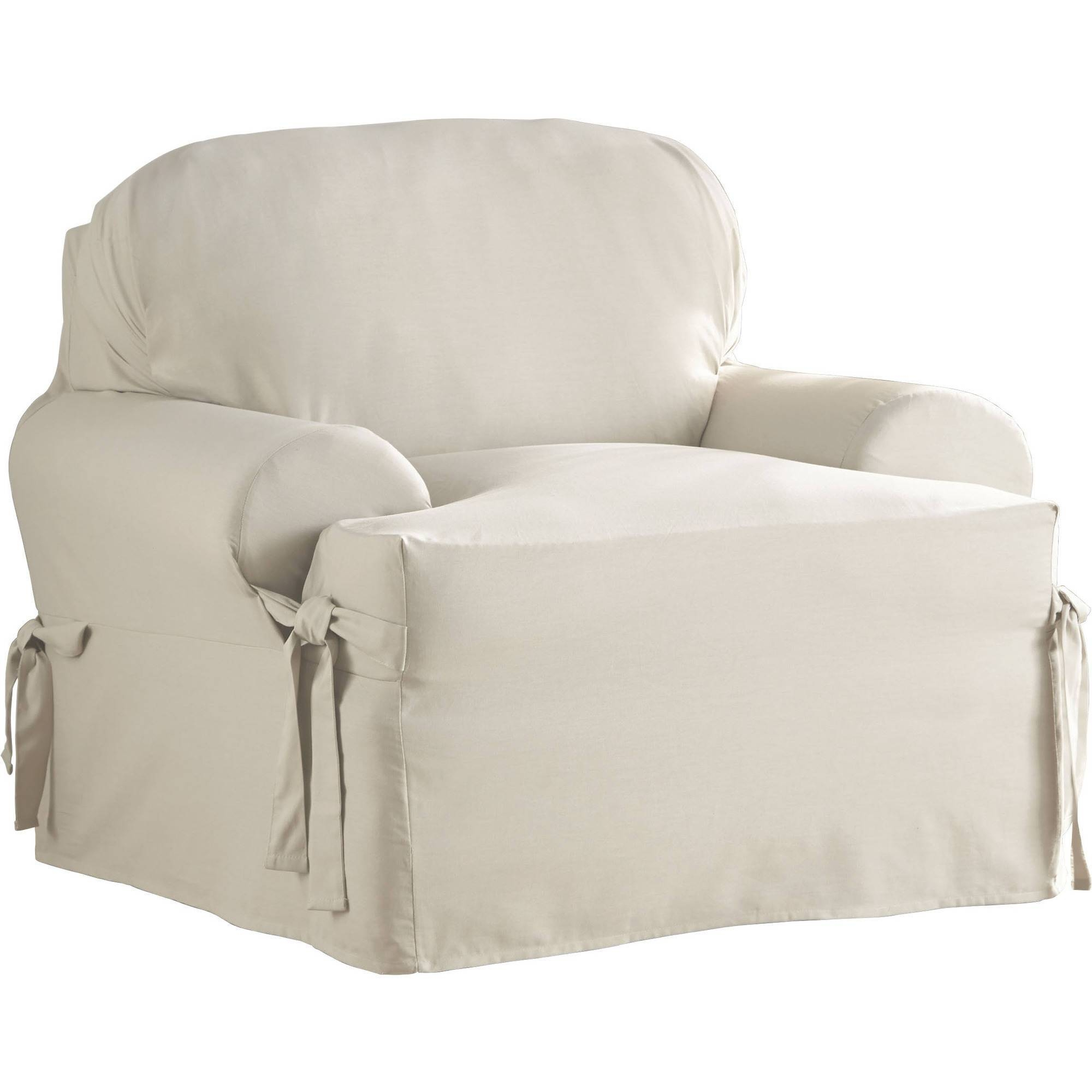 Slipcovers - Walmart with regard to Sofa Loveseat Slipcovers (Image 23 of 30)