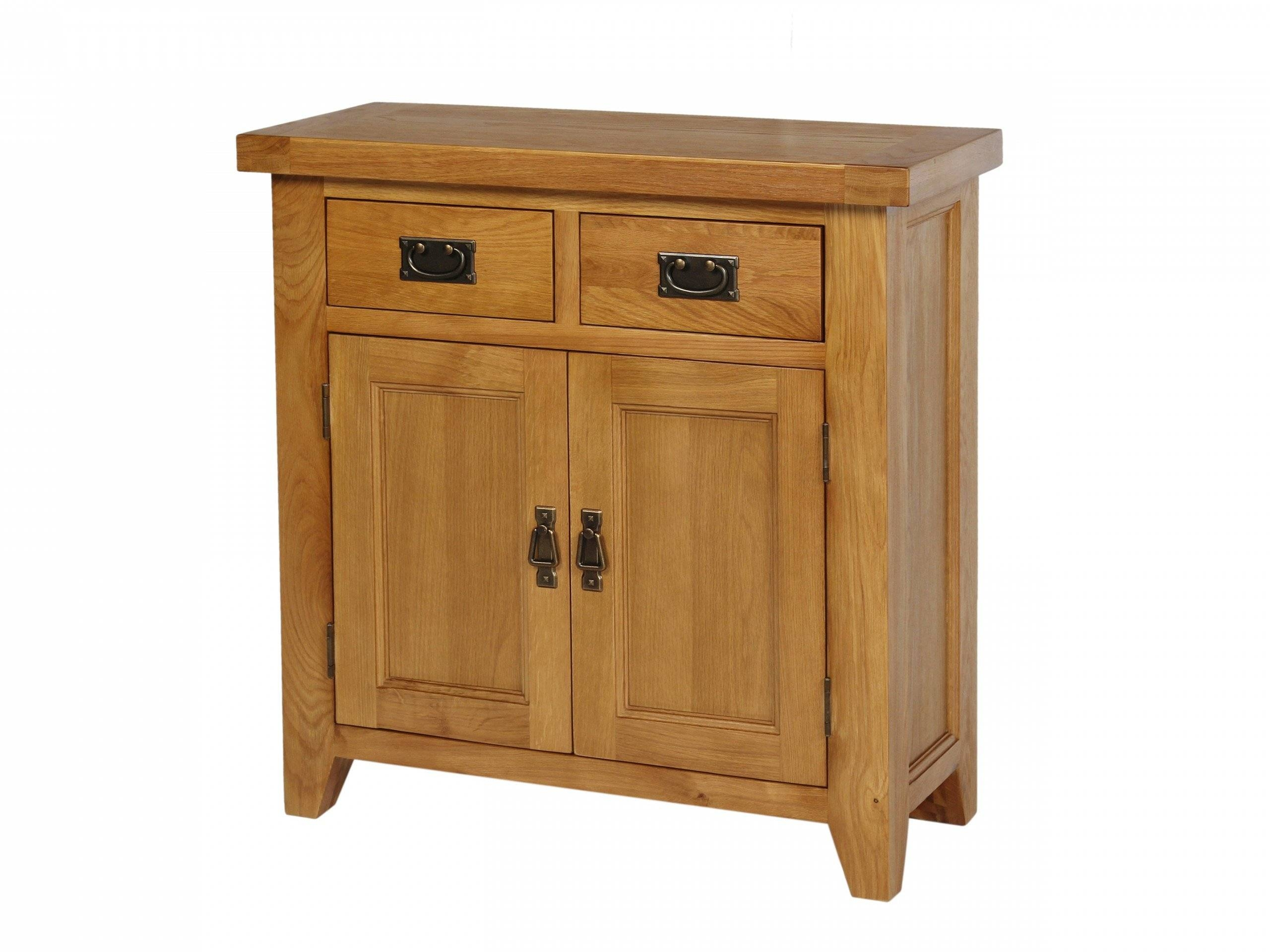 Small 80Cm Wide Country Oak Petite Sideboard with regard to Small Wooden Sideboards (Image 25 of 30)