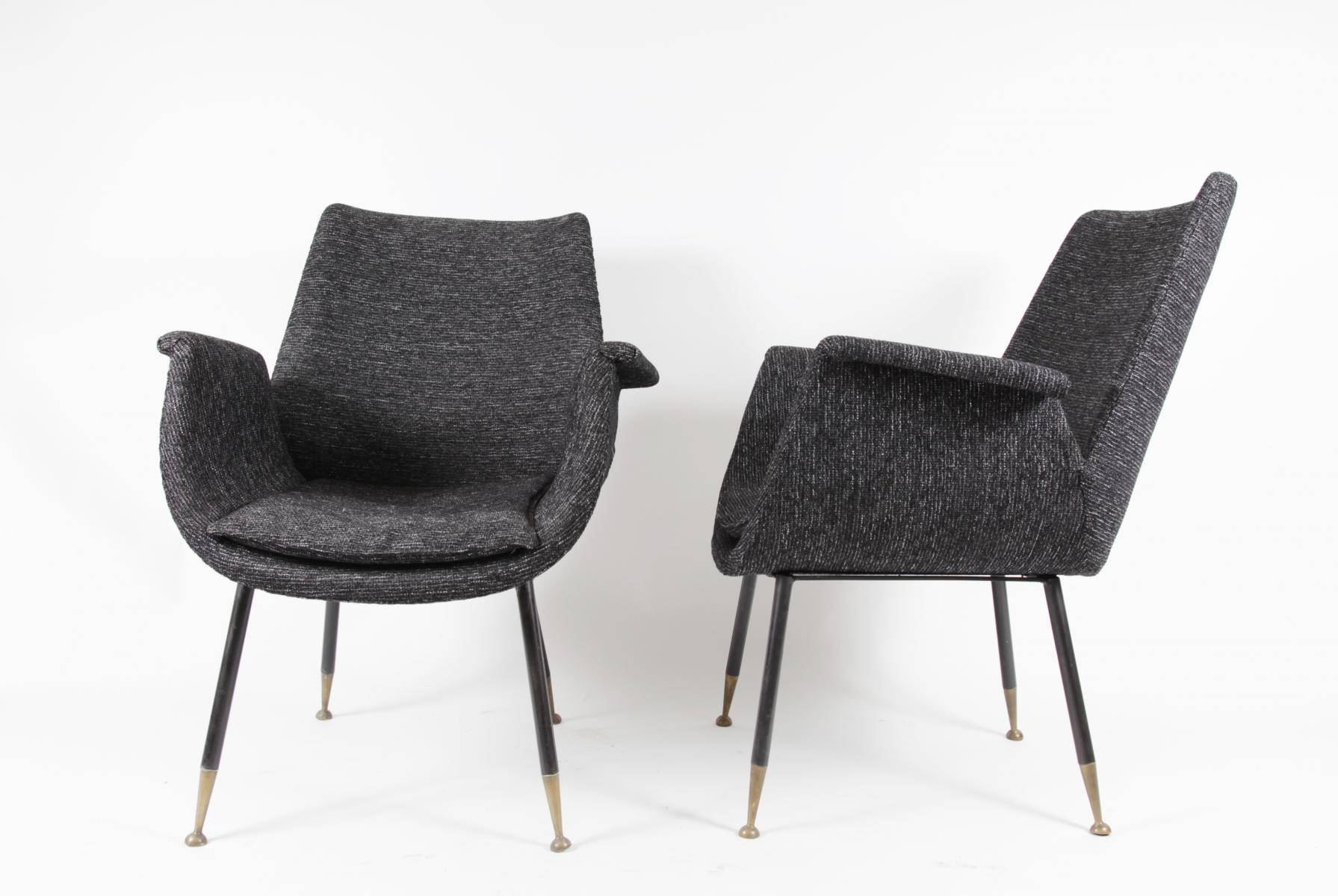 Small Armchairsgastone Rinaldi For Rima, 1956, Set Of 2 For for Small Armchairs (Image 27 of 30)