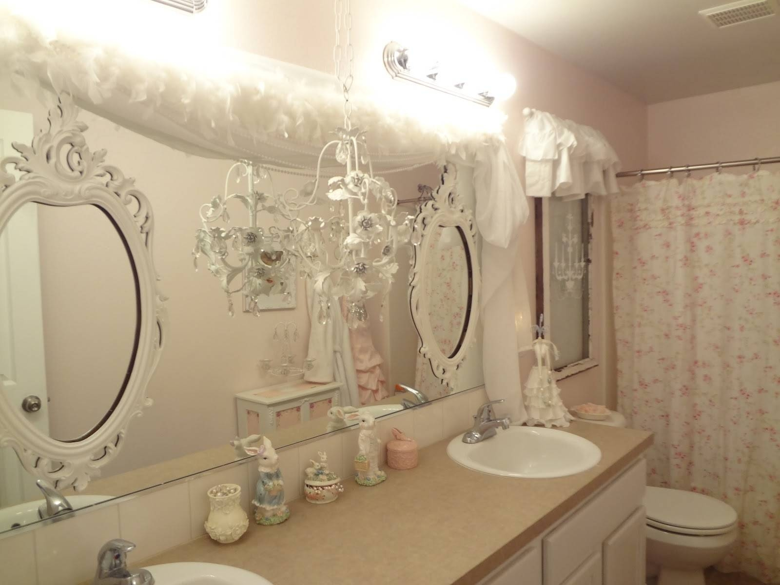 Small Bathroom : Shab Chic Bathroom Mirrors Images Shab Chic throughout Shabby Chic Window Mirrors (Image 24 of 25)