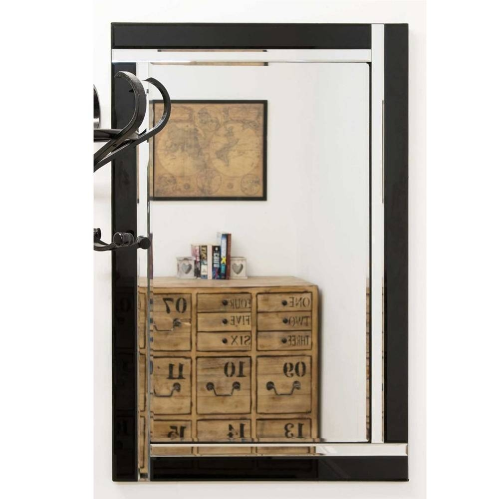 Small Contemporary Black Venetian Mirror | Decorative Venetian Mirrors pertaining to Small Venetian Mirrors (Image 17 of 25)